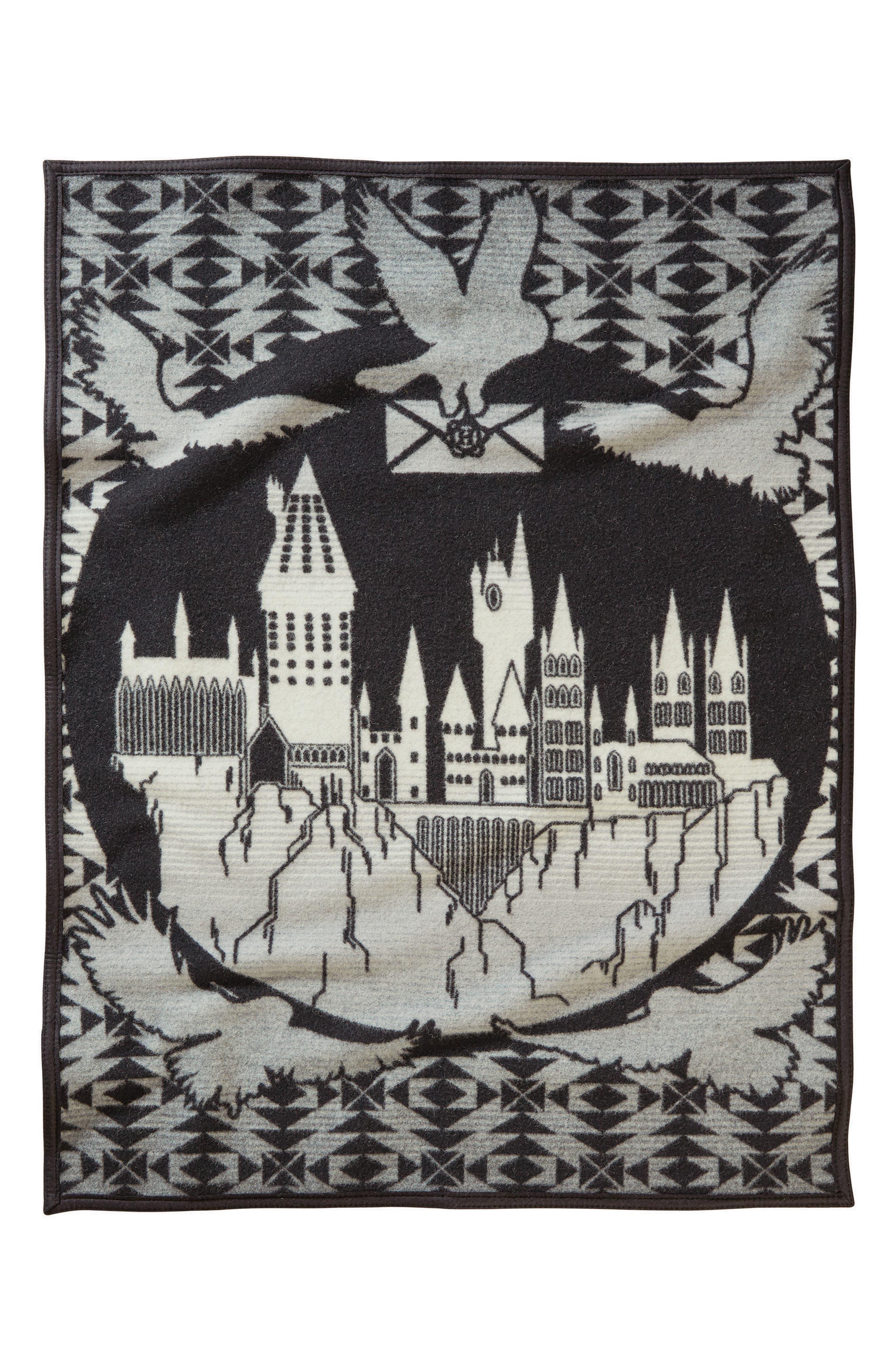 Hogwarts is My Home Crib Blanket,                             Main thumbnail 1, color,                             Black