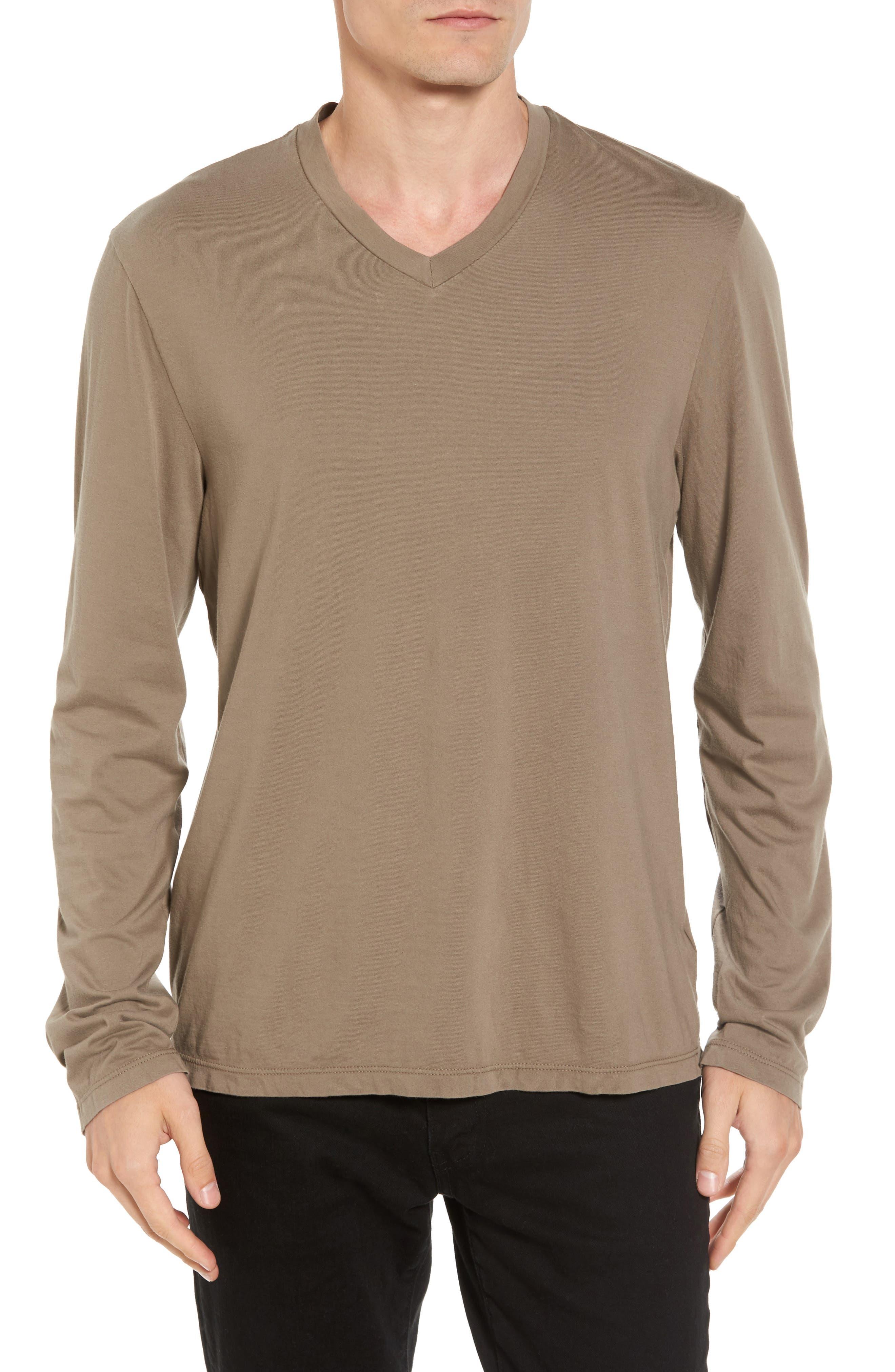 Suvin V-Neck Sweatshirt,                         Main,                         color, Ammo