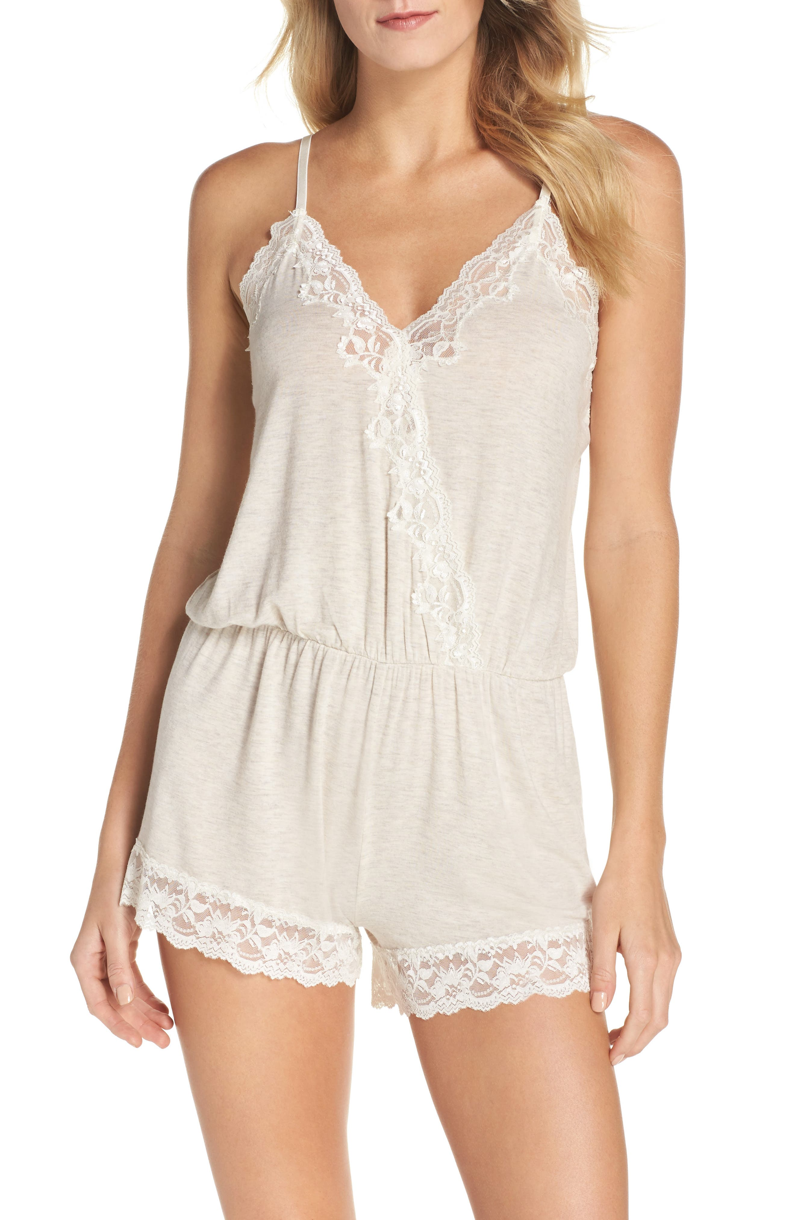 Alternate Image 1 Selected - Flora Nikrooz Stretch Modal Lounge Romper