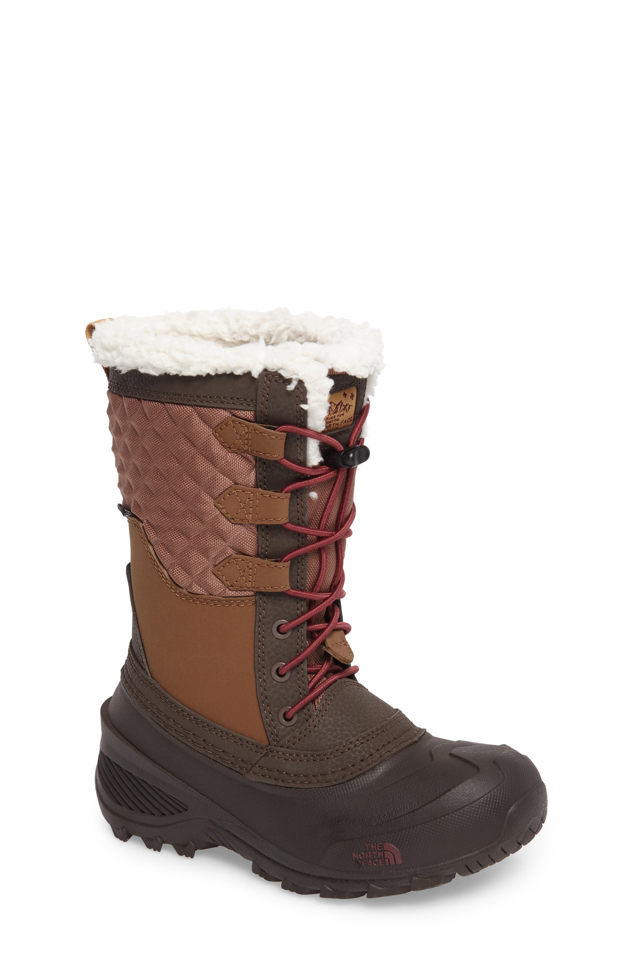 The North Face Shellista Lace III Faux Fur Waterproof Boot (Toddler, Little Kid & Big Kid)