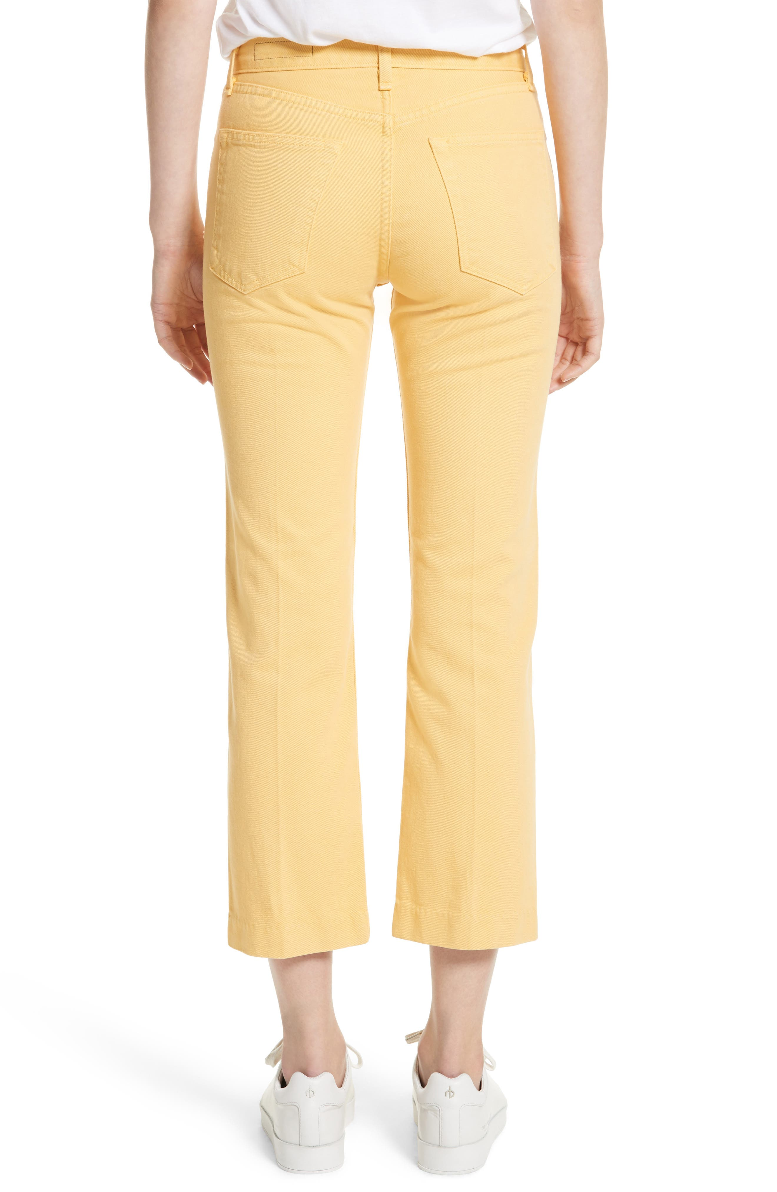Alternate Image 2  - rag & bone/JEAN Straight Leg Crop Jeans (Sunrise)