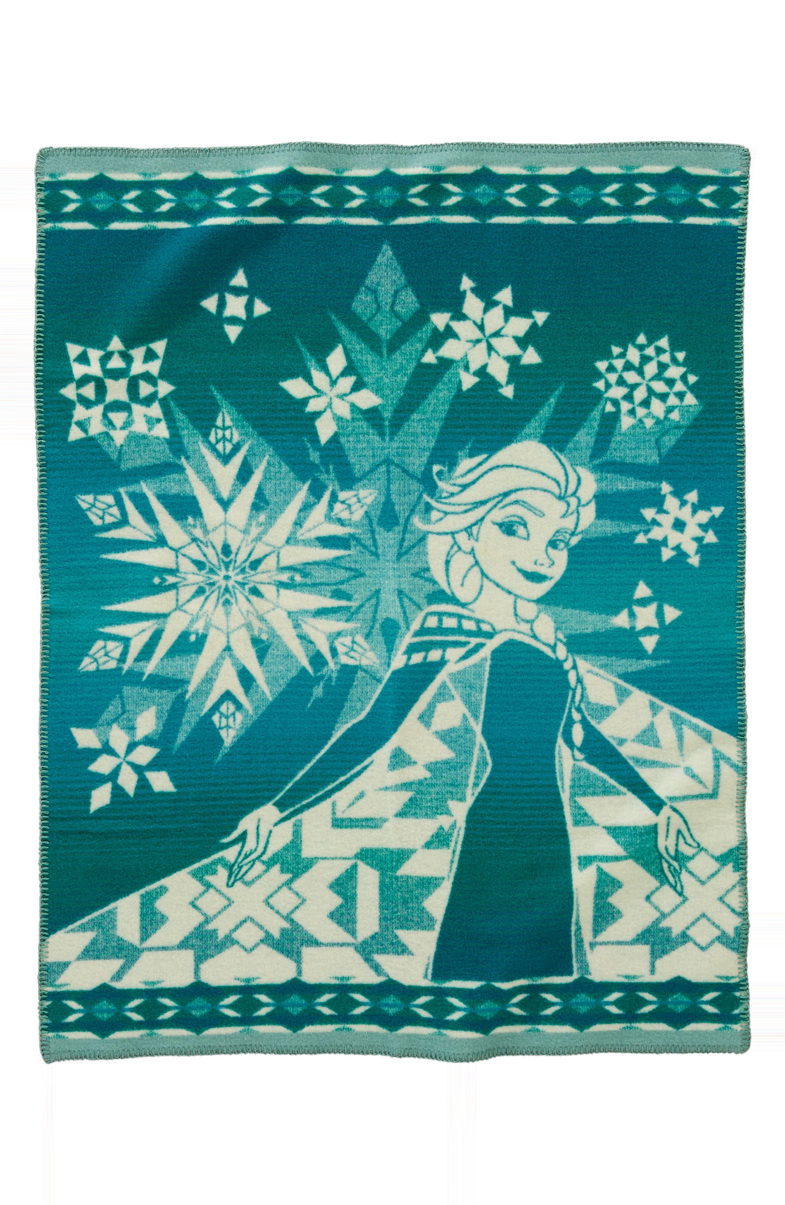 Elsa's Courage Blanket Throw,                             Main thumbnail 1, color,                             Green