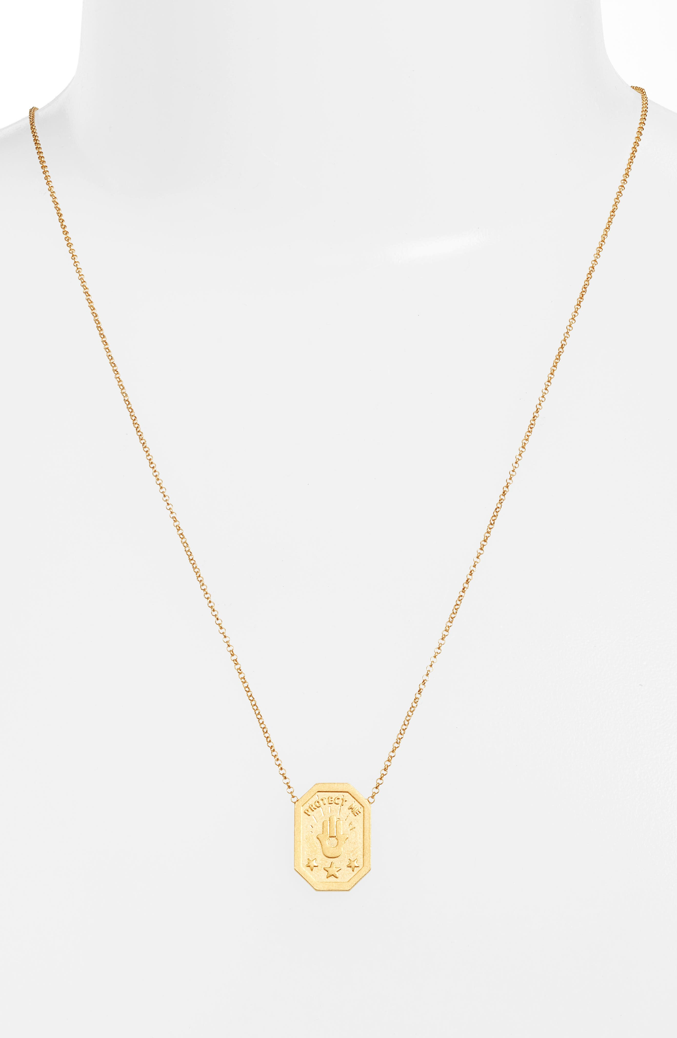 Protect My Heart, Watch My Back Scapular Two-Way Necklace,                             Alternate thumbnail 2, color,                             Gold