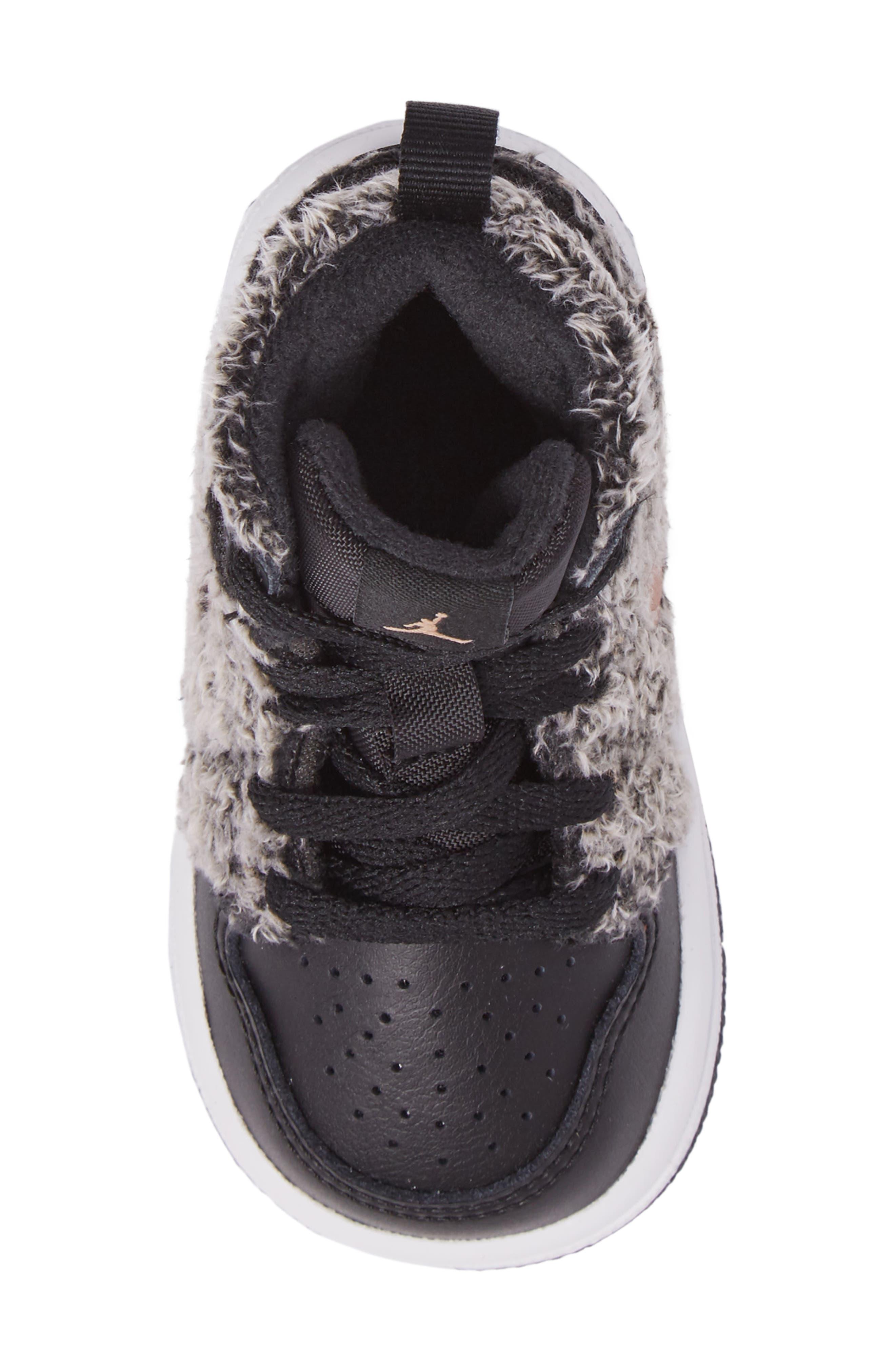 Alternate Image 5  - Nike Air Jordan 1 Retro High Top Basketball Shoe (Baby, Walker and Toddler)