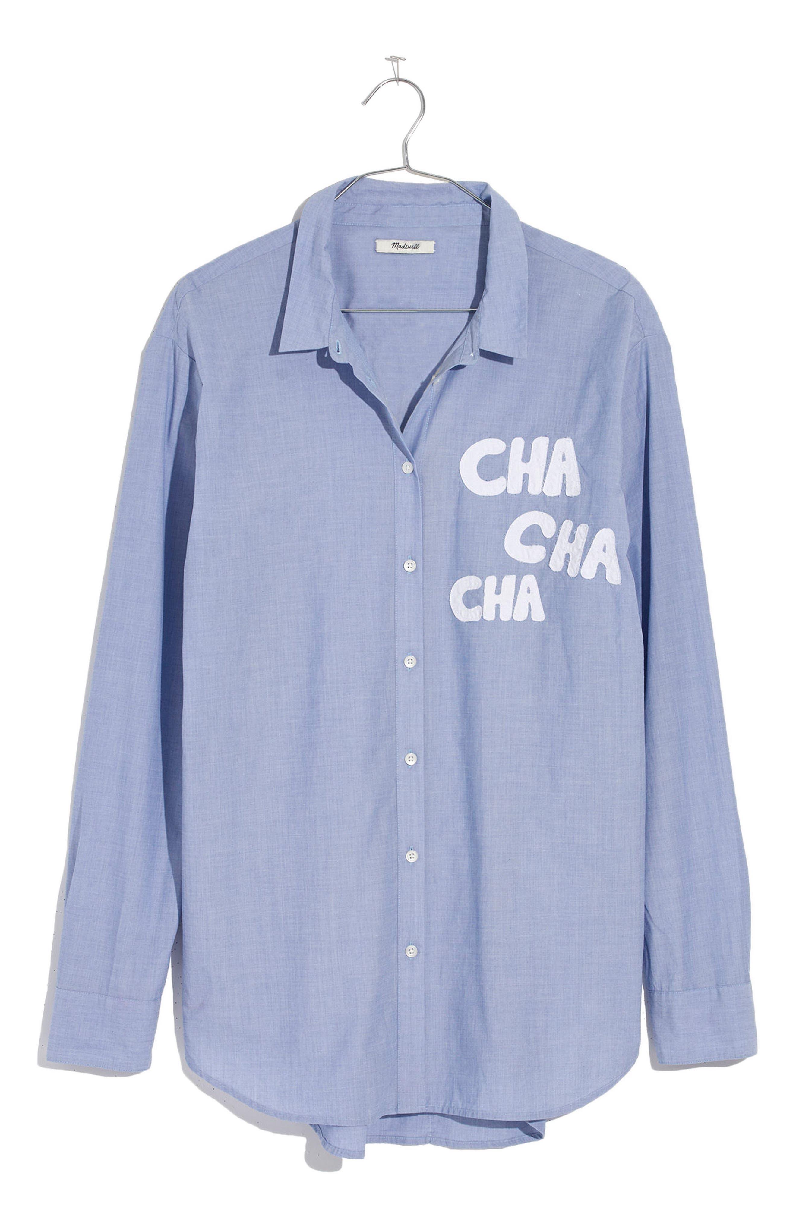 Cha Cha Cha Ex-Boyfriend Shirt,                             Alternate thumbnail 3, color,                             Soft Twilight