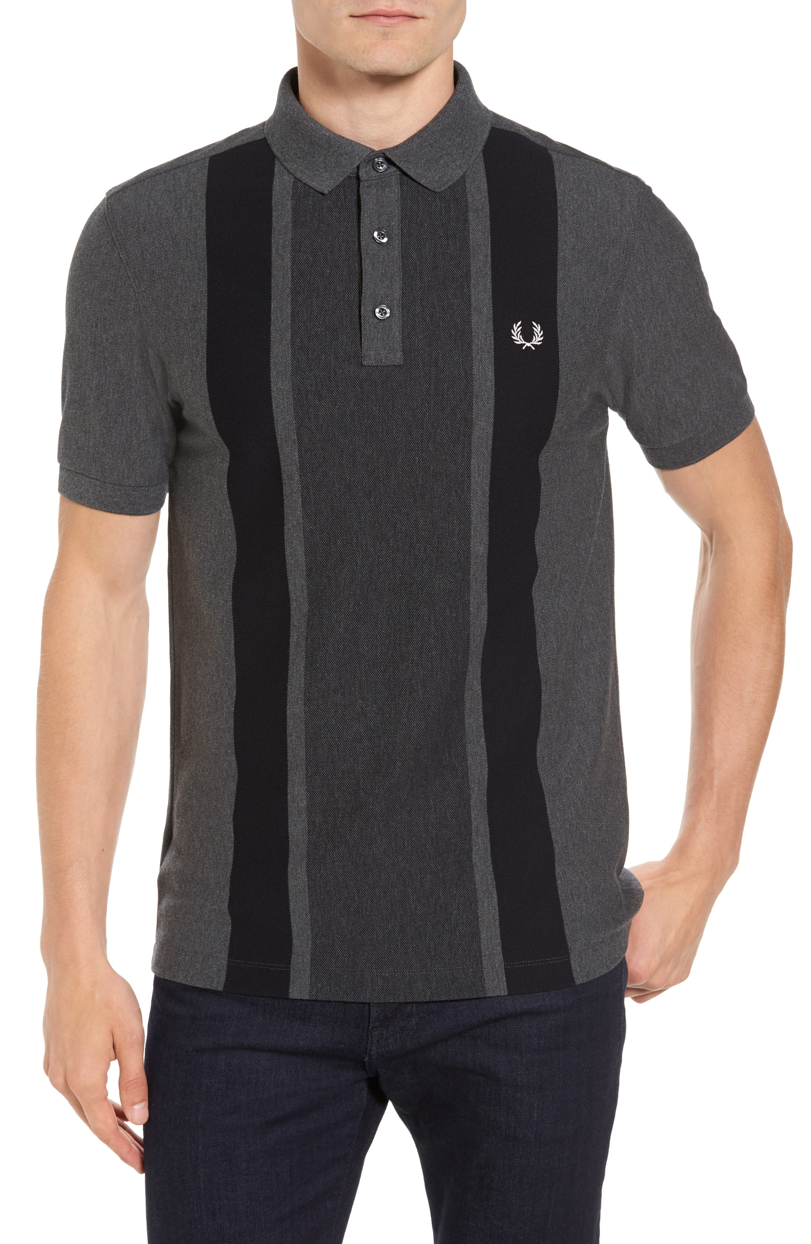 Main Image - Fred Perry Stripe Piqué Polo
