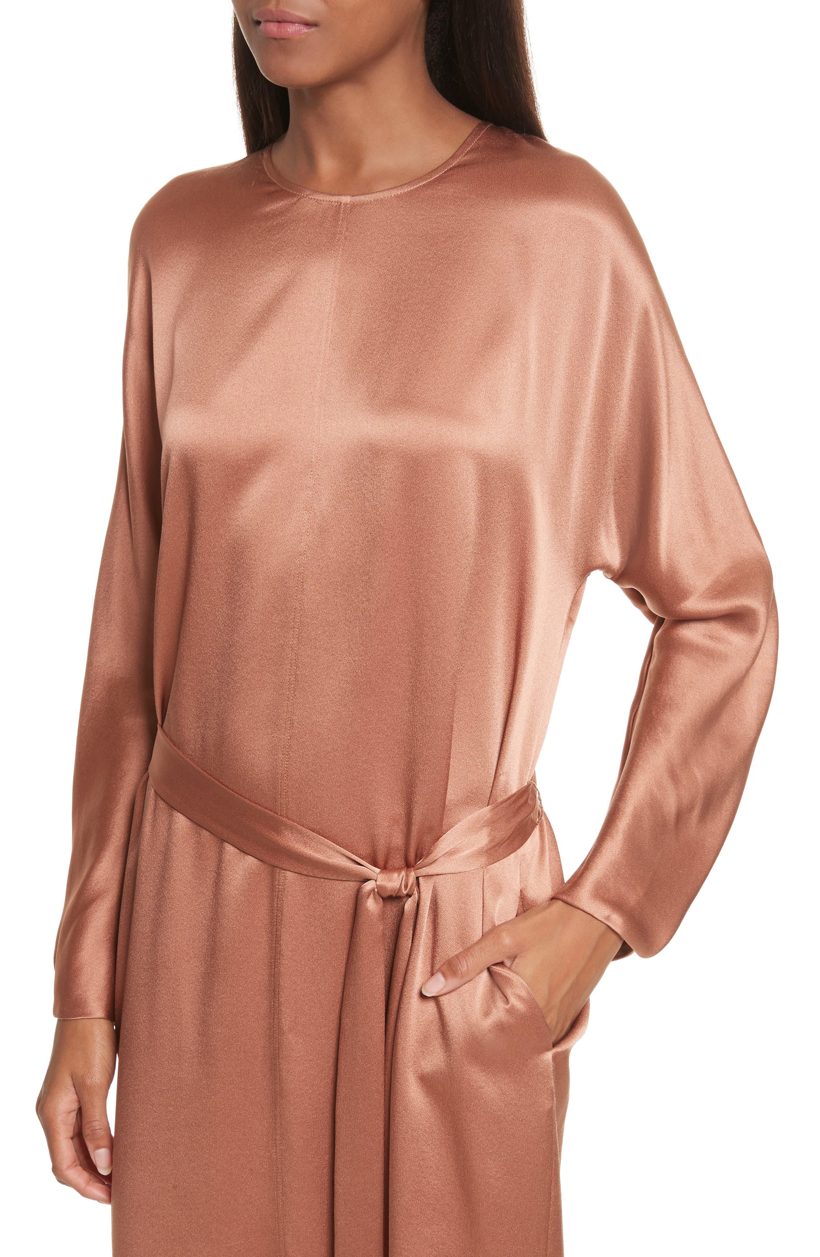 Alternate Image 4  - Vince Seam Front Silk Dress