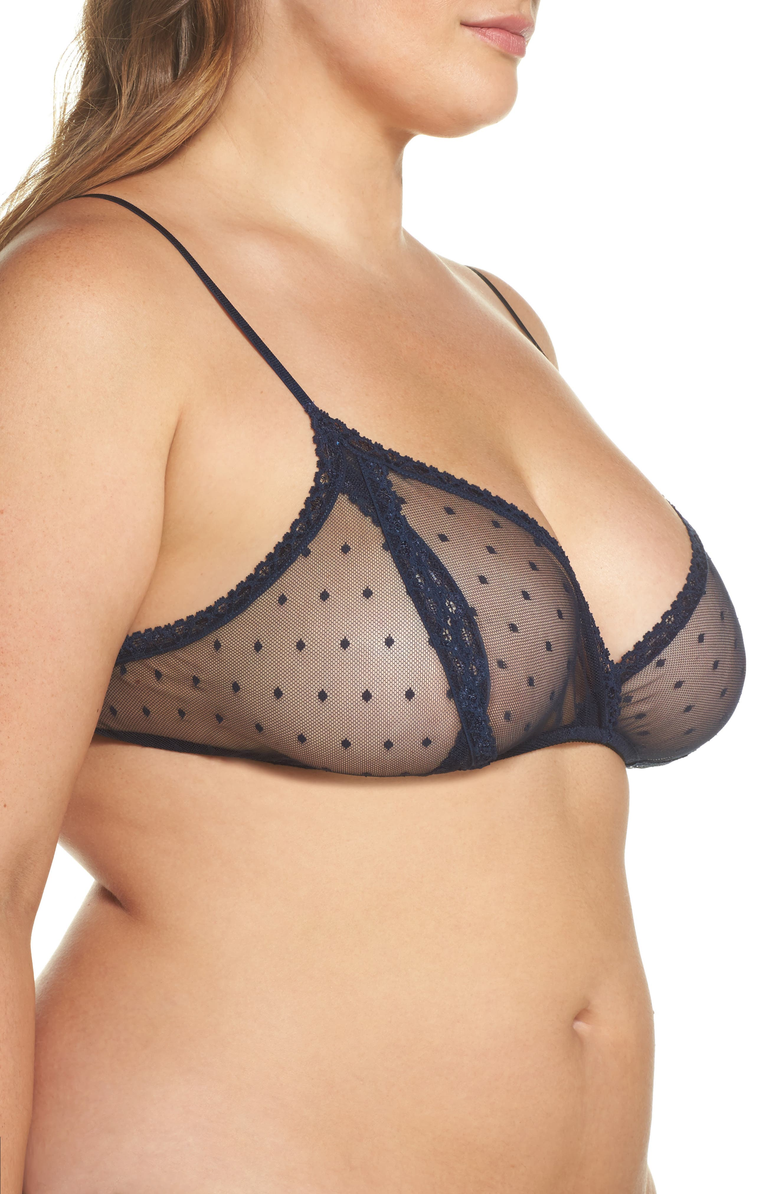 Alternate Image 3  - Only Hearts 'Coucou Lola' Sheer Bralette (Plus Size)