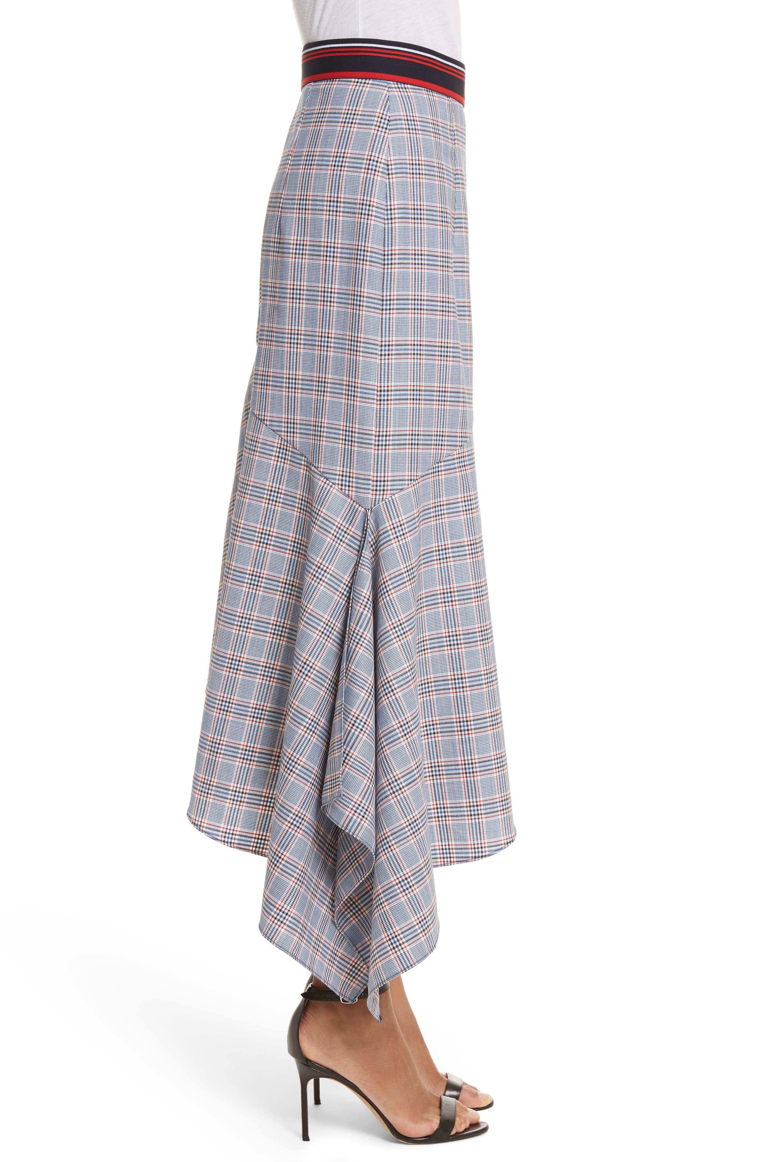 Asymmetrical Ruffle Hem Skirt,                             Alternate thumbnail 3, color,                             Multi