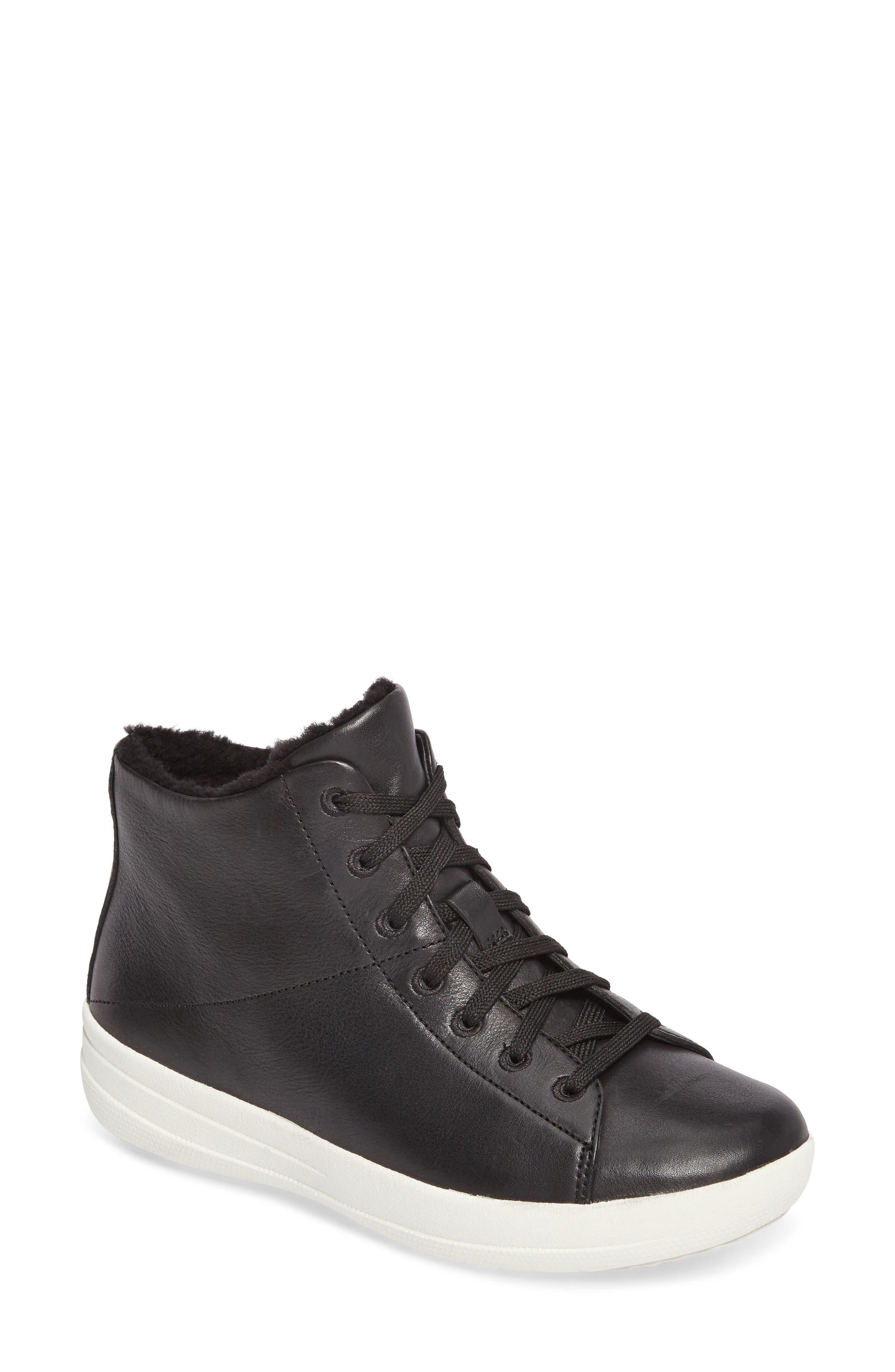 FitFlop F-Sporty™ Genuine Shearling Sneaker Boot (Women)