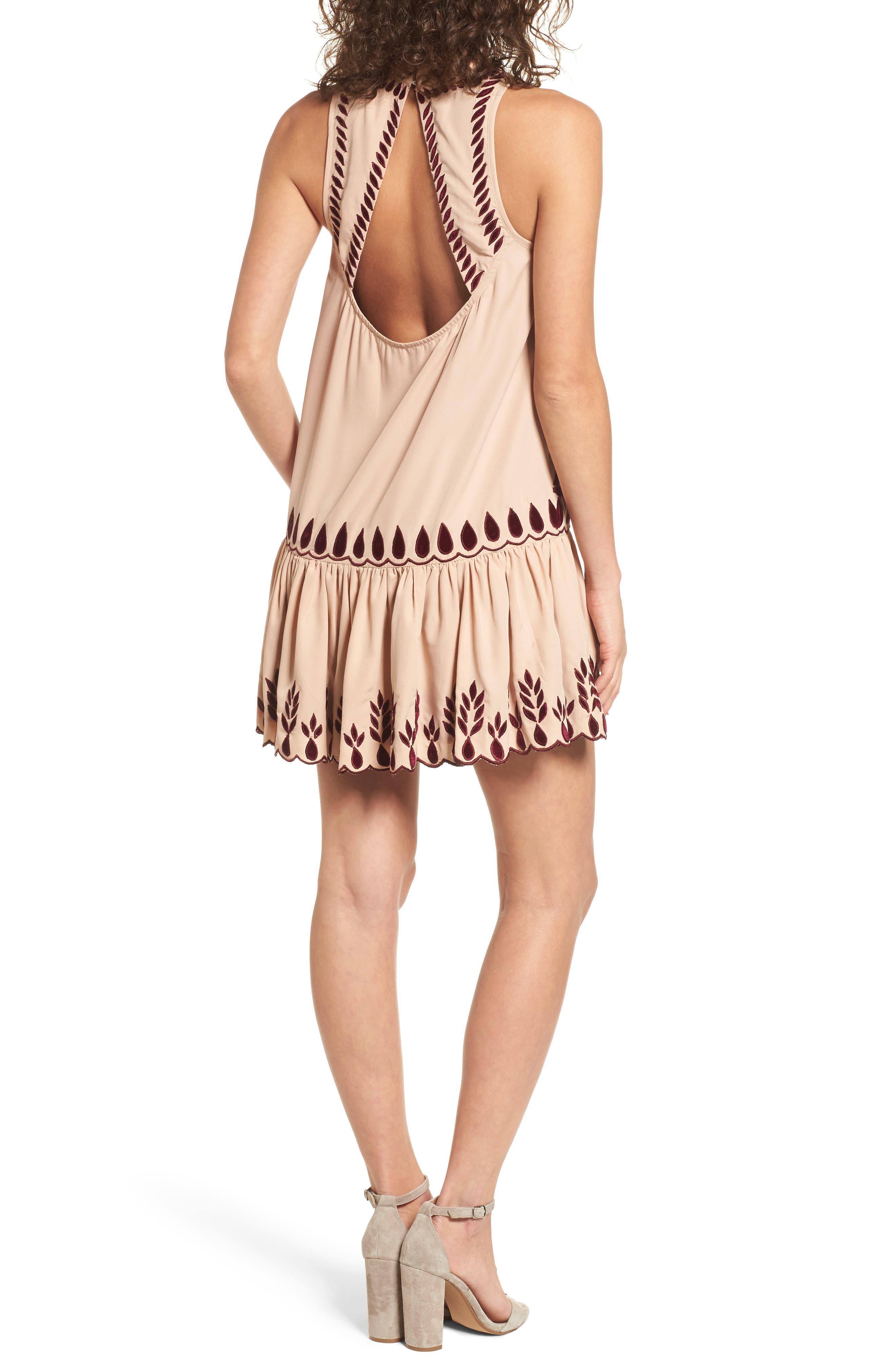 Alternate Image 2  - KAS NEW YORK Lauren Drop Waist Minidress