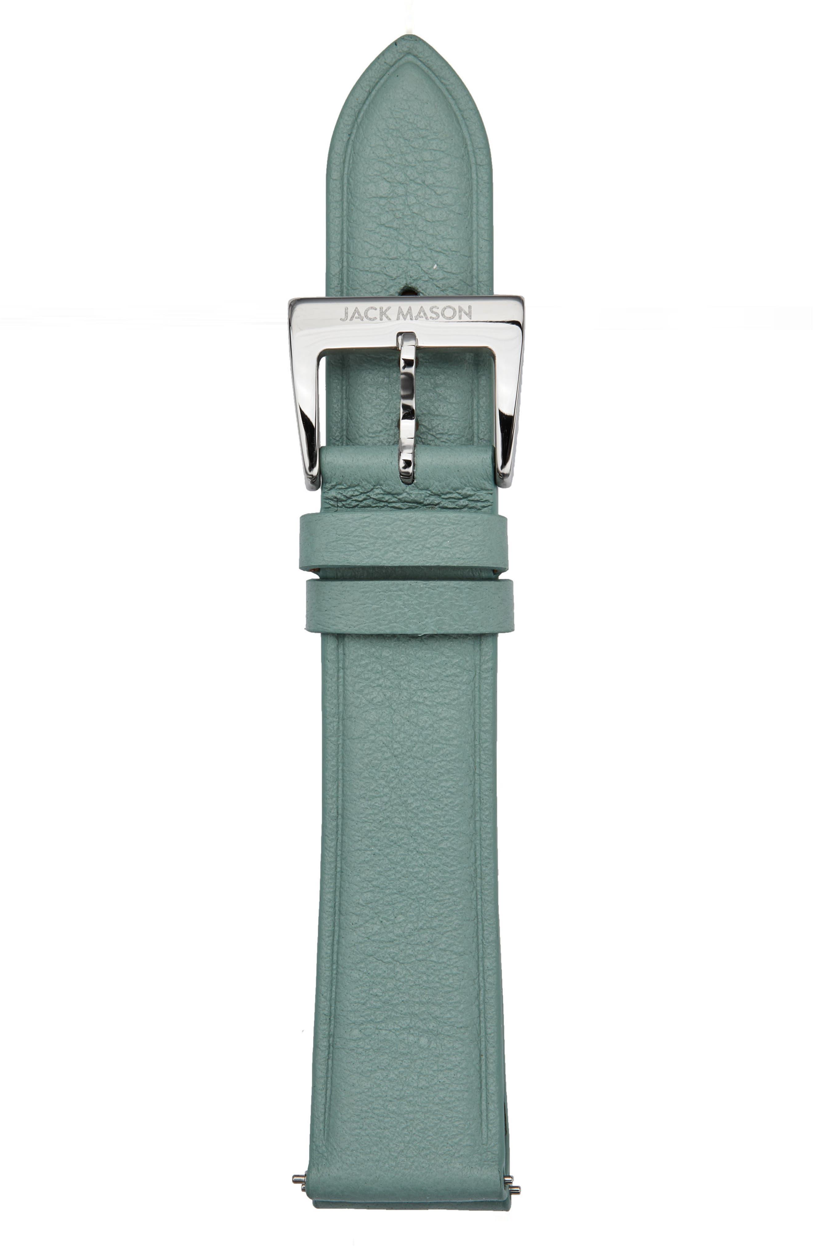 Main Image - Jack Mason Leather Watch Strap, 18mm