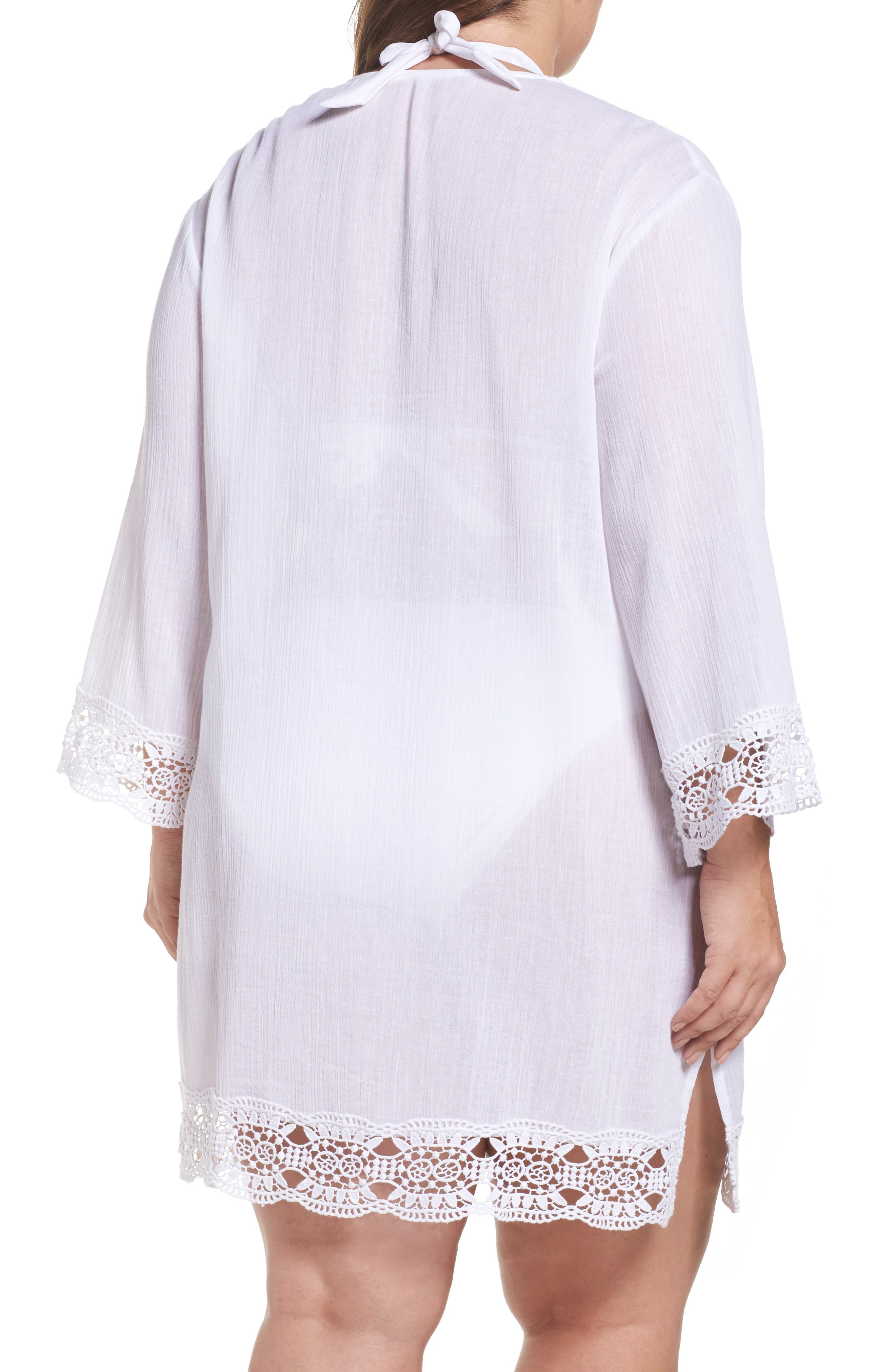Island Fare Cover-Up Tunic,                             Alternate thumbnail 2, color,                             White
