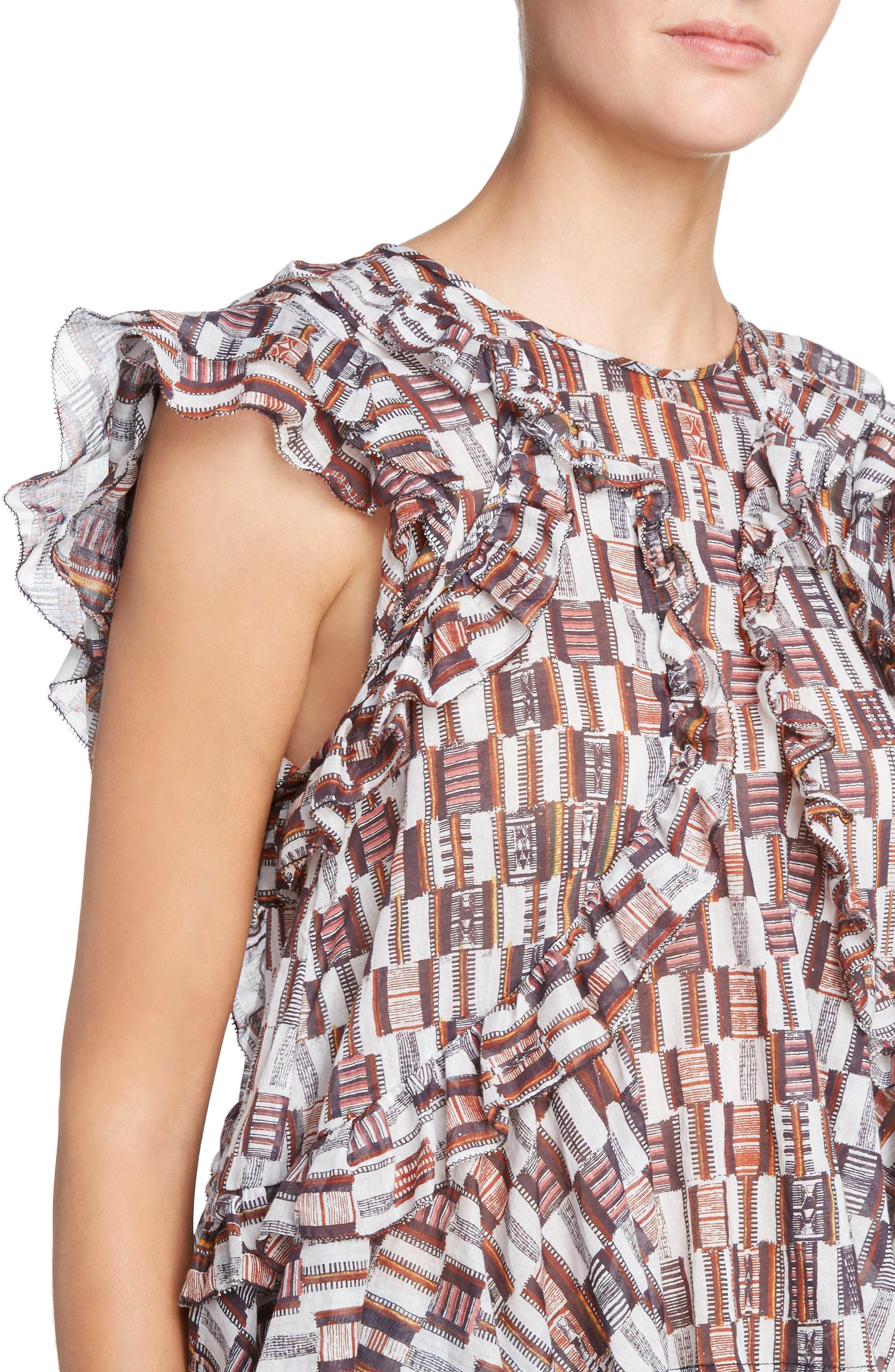 Alternate Image 4  - Isabel Marant Étoile Nalou Print Cotton Top