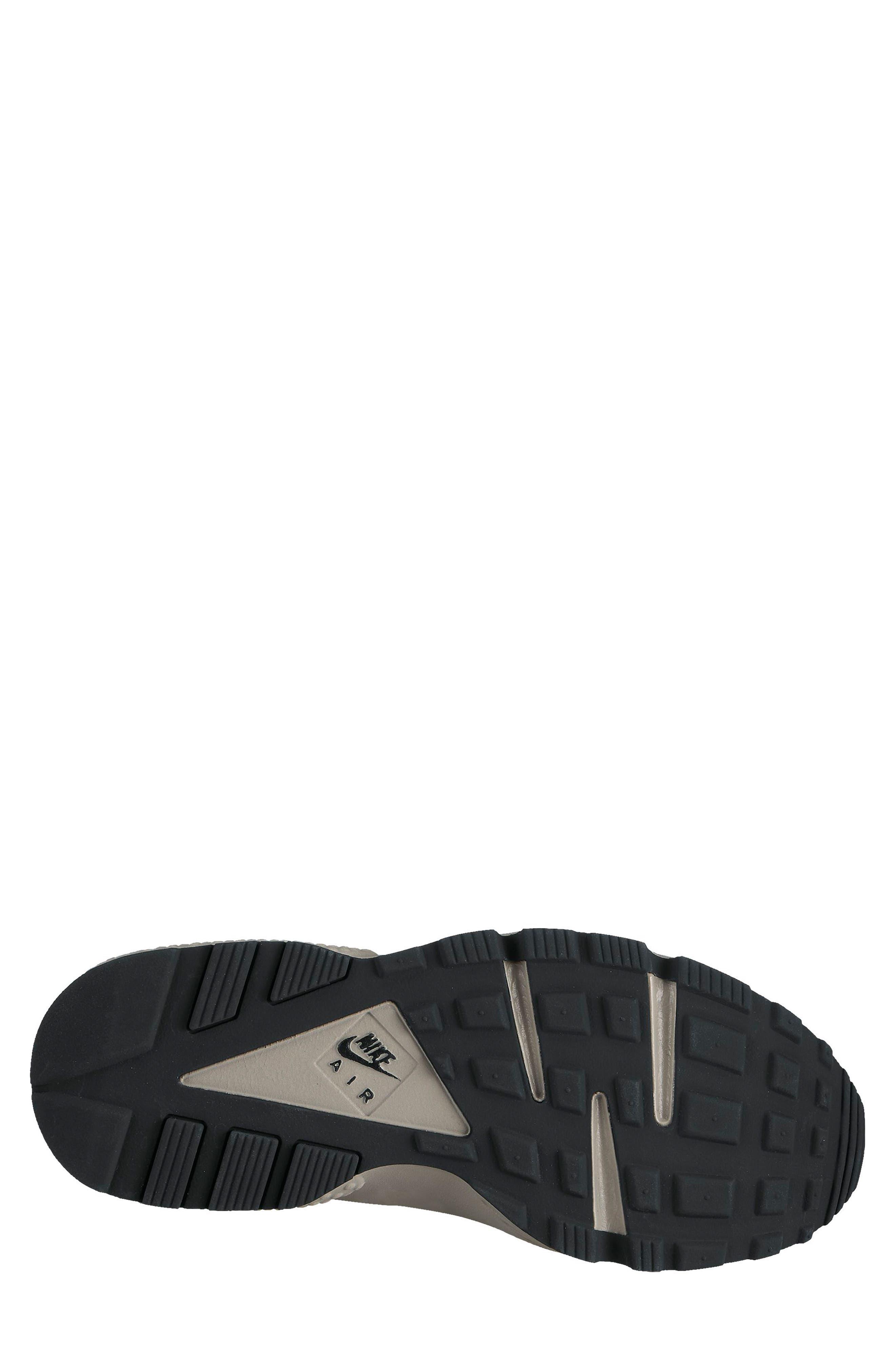 Air Huarache Run SE Sneaker,                             Alternate thumbnail 2, color,                             Black/ Dark Grey/ Cobblestone
