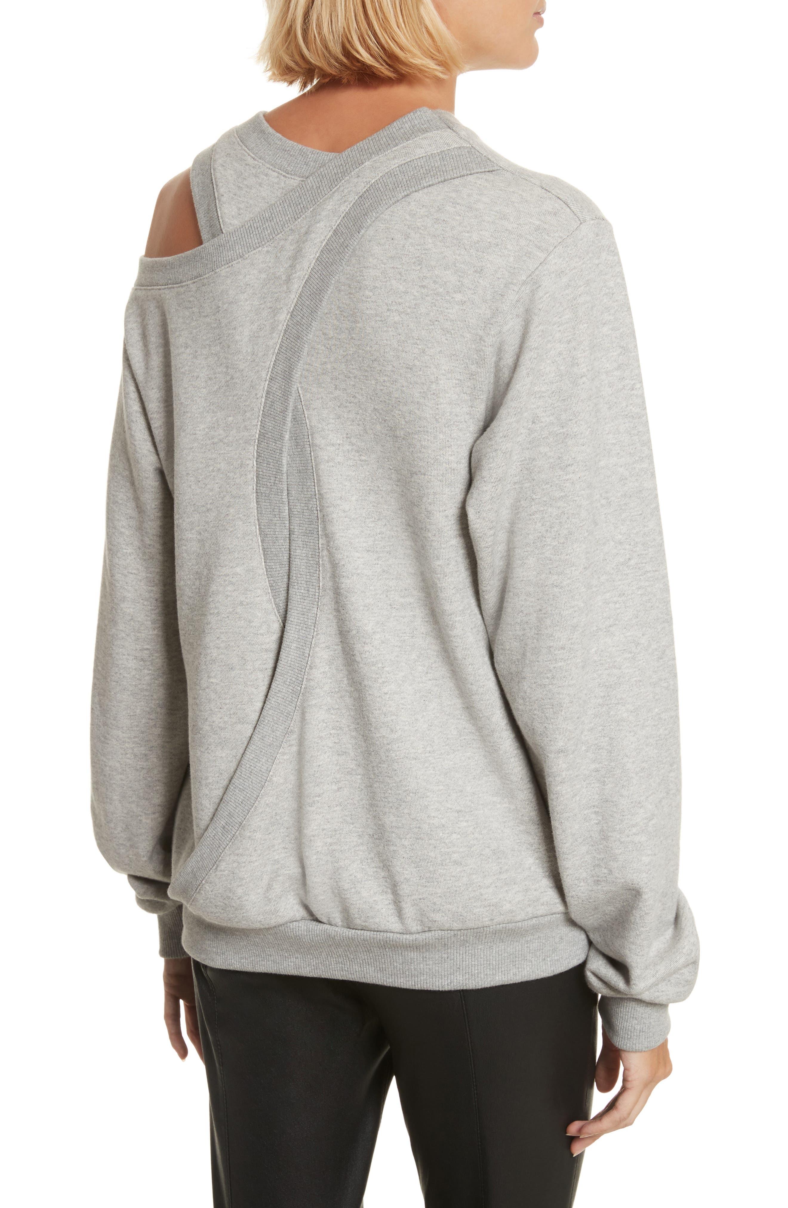 Covell Split Back Sweatshirt,                             Alternate thumbnail 2, color,                             Heather Grey