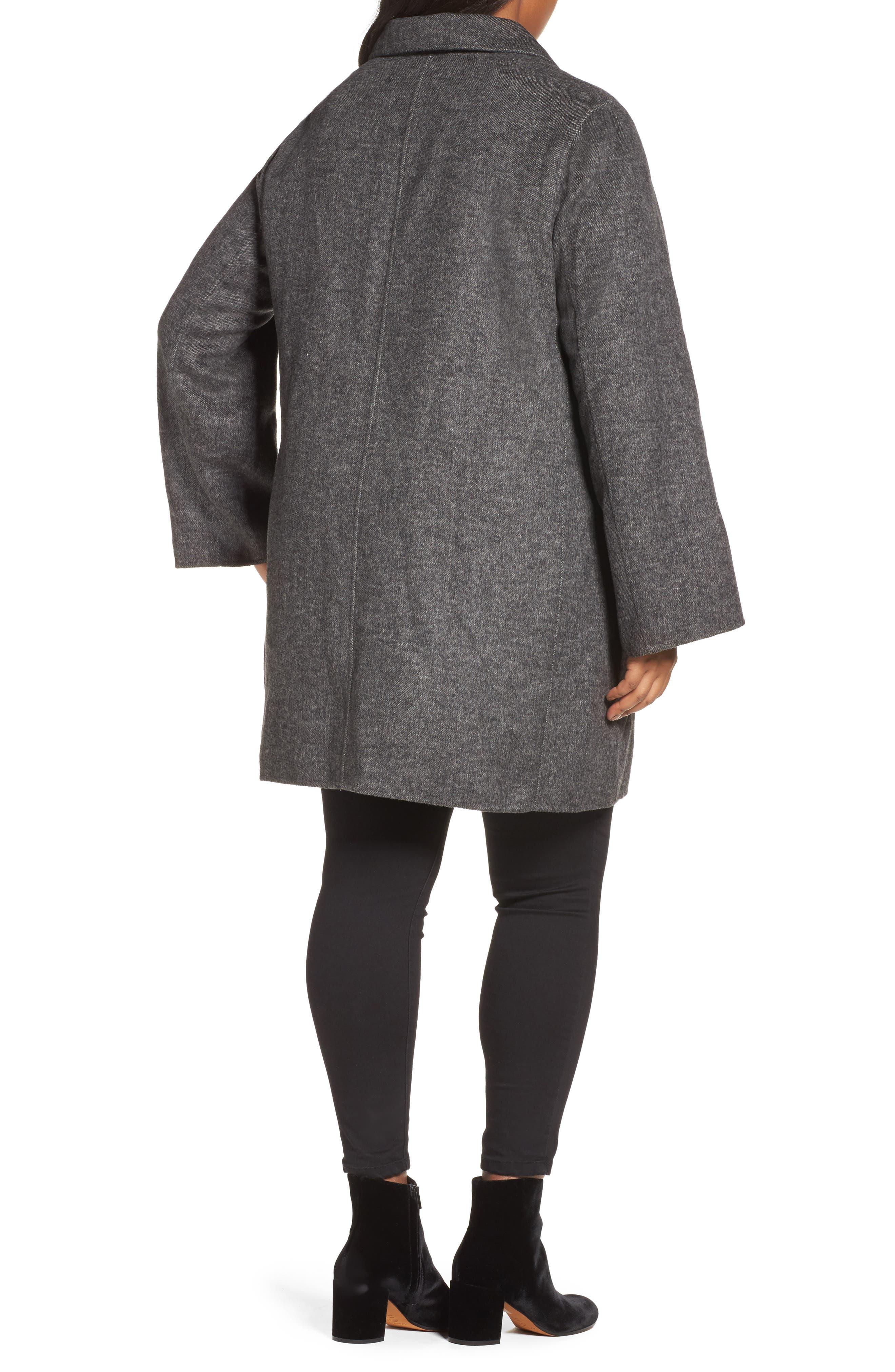 Alternate Image 2  - Tahari Jayden Car Coat (Plus Size)