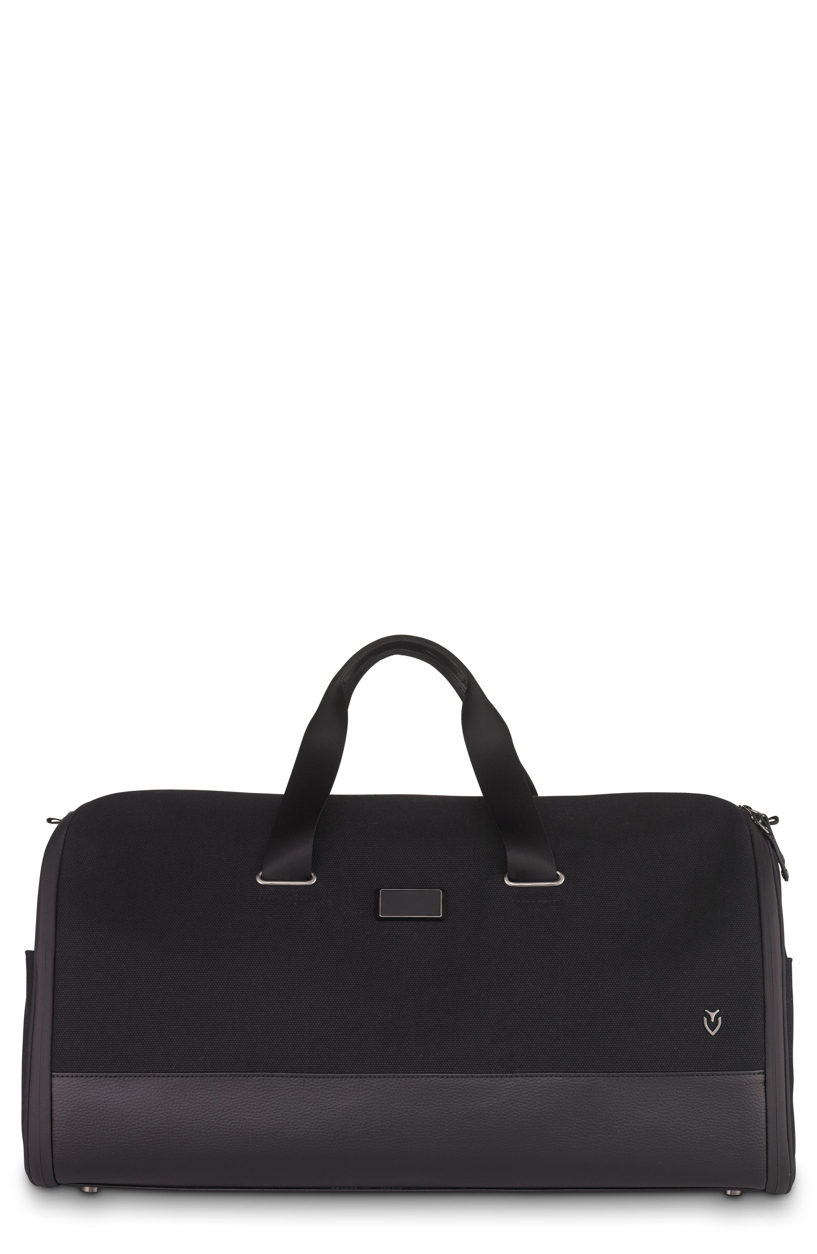 Canvas Garment Duffel Bag,                             Main thumbnail 1, color,                             Black