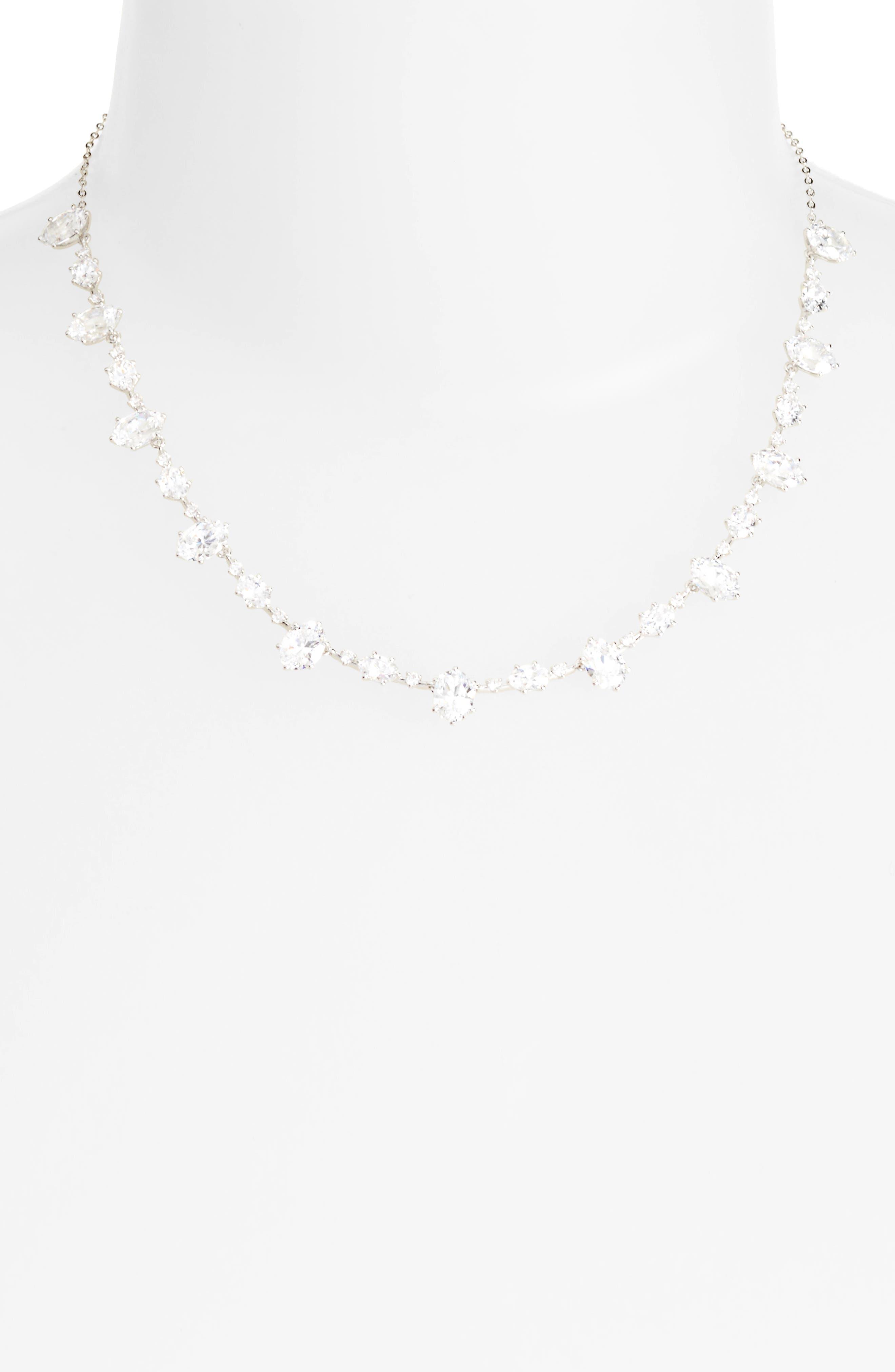 Nadri Royale Cubic Zirconia Collar Necklace