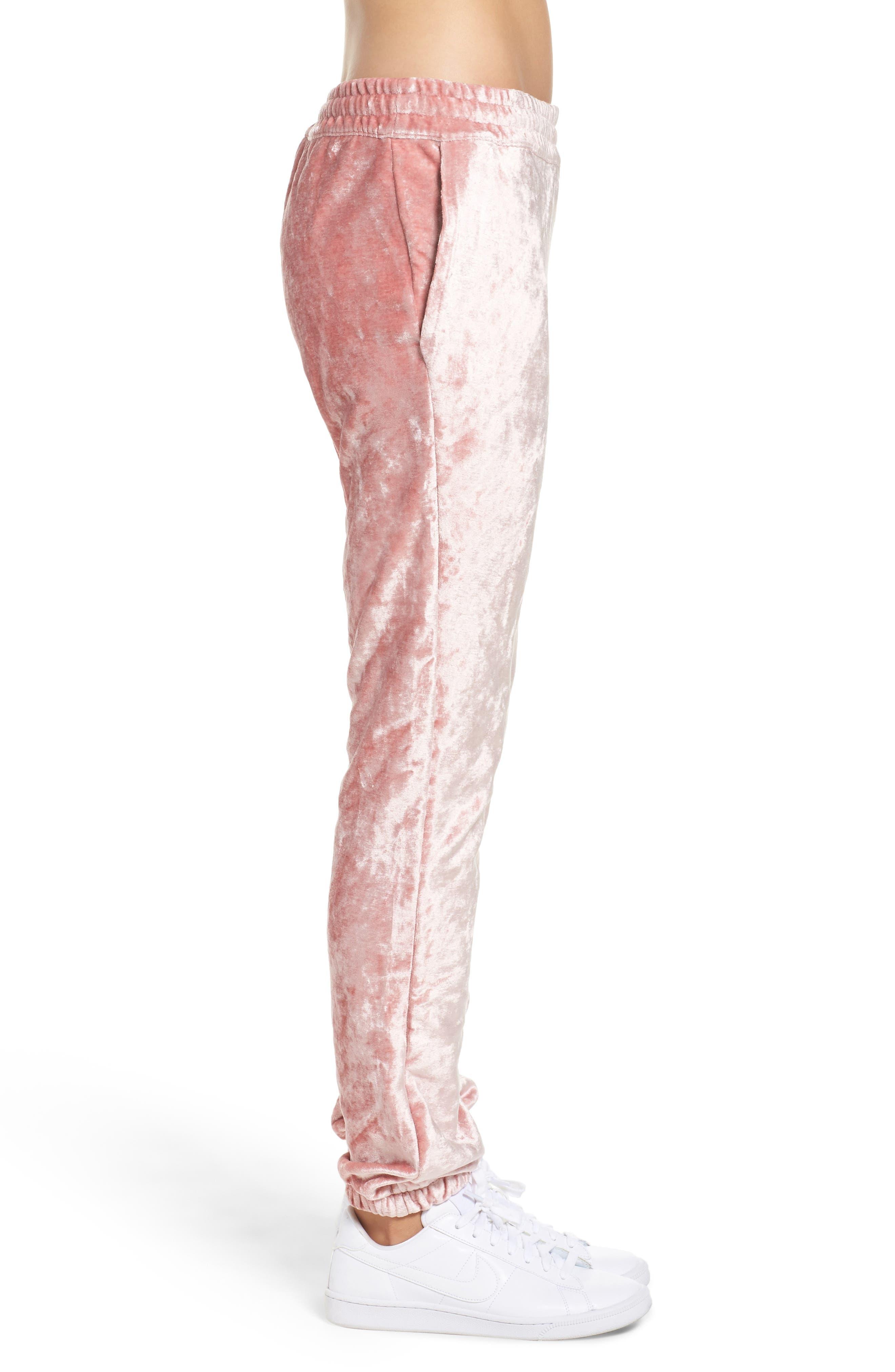 NikeLab Essentials Women's Velour Pants,                             Alternate thumbnail 3, color,                             Rust Pink