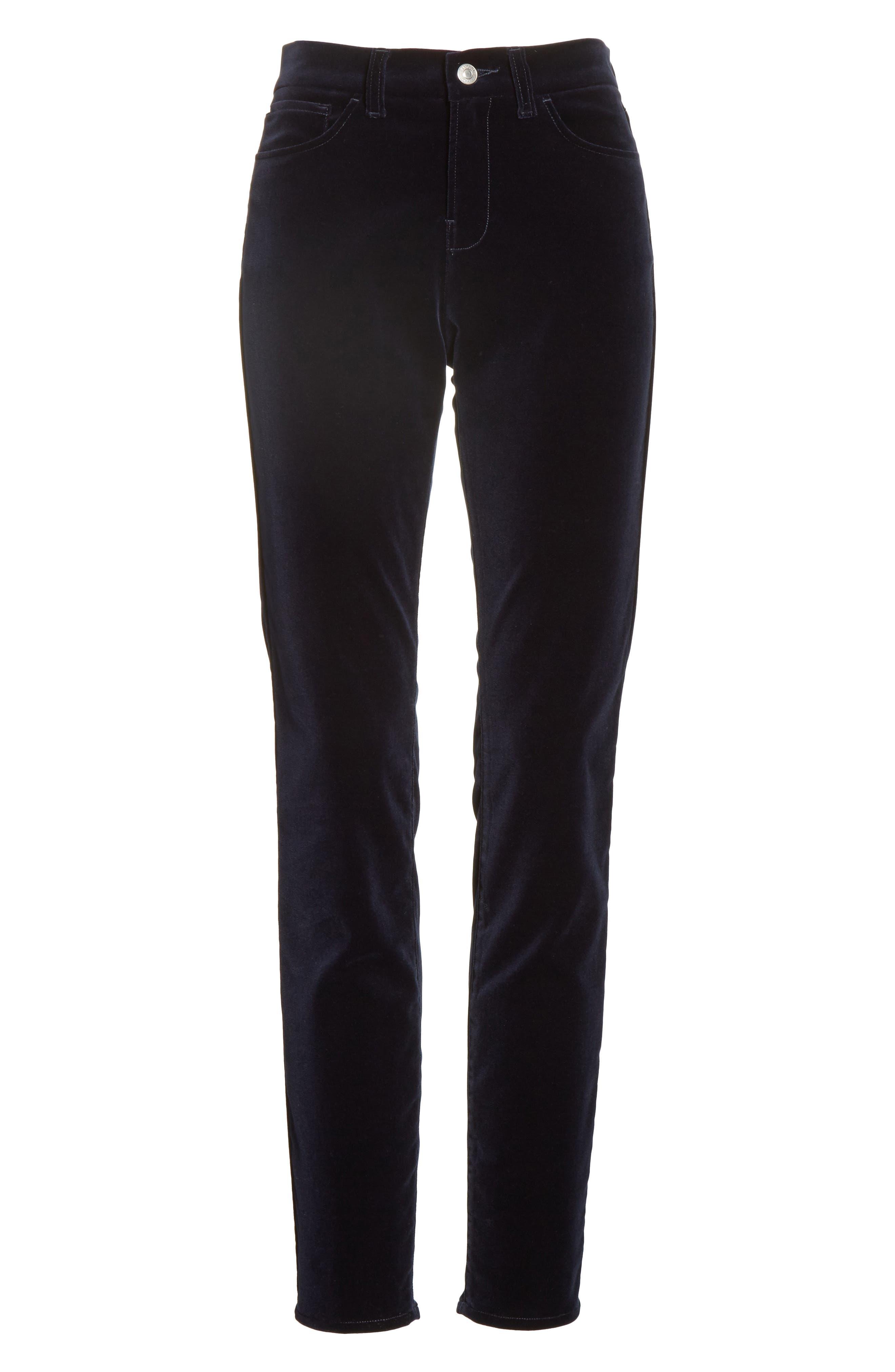 Alternate Image 7  - Armani Collezioni Velvet Straight Leg Pants