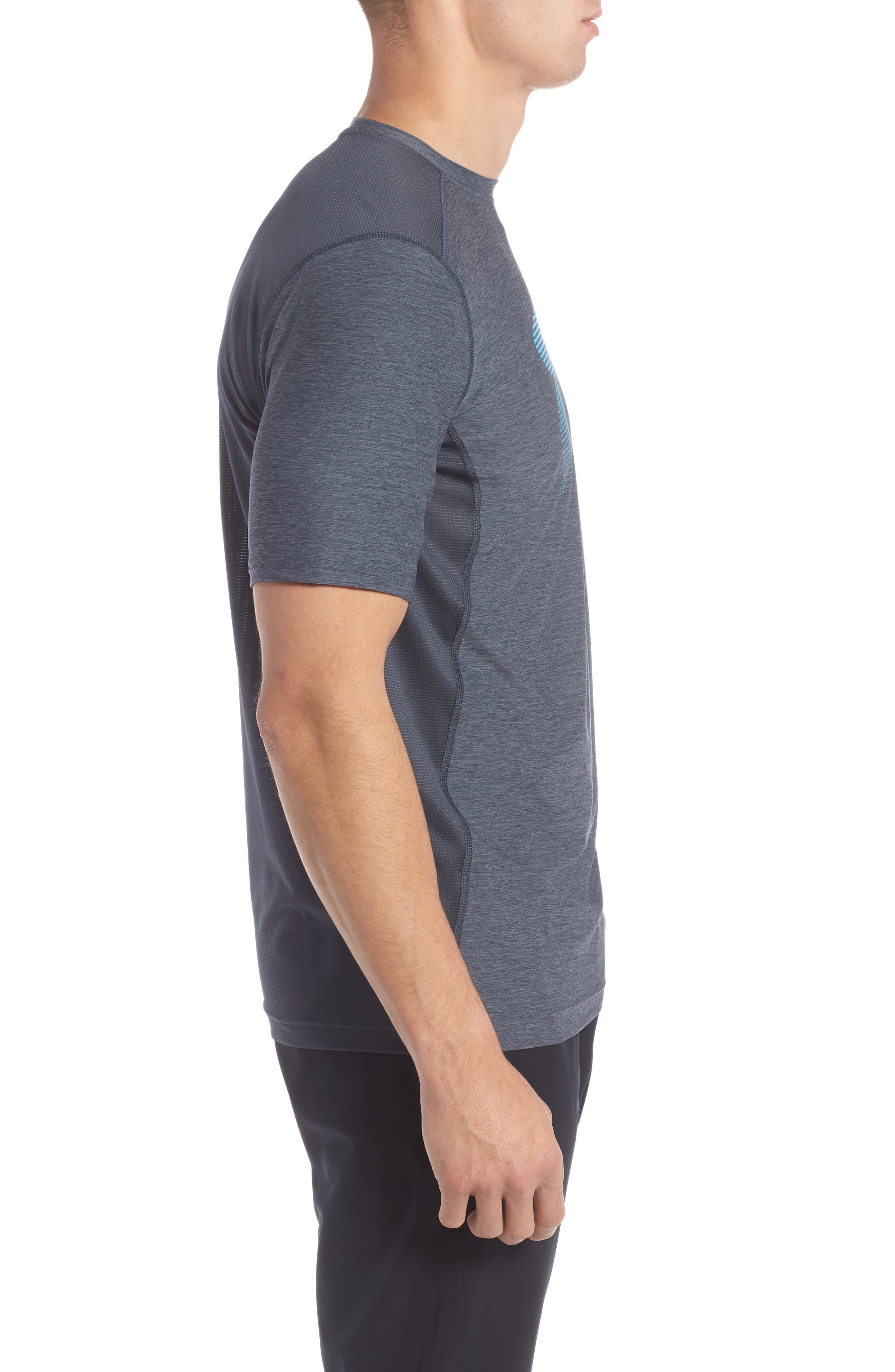 Raid Graphic T-Shirt,                             Alternate thumbnail 3, color,                             Stealth Grey / / Blue Shift