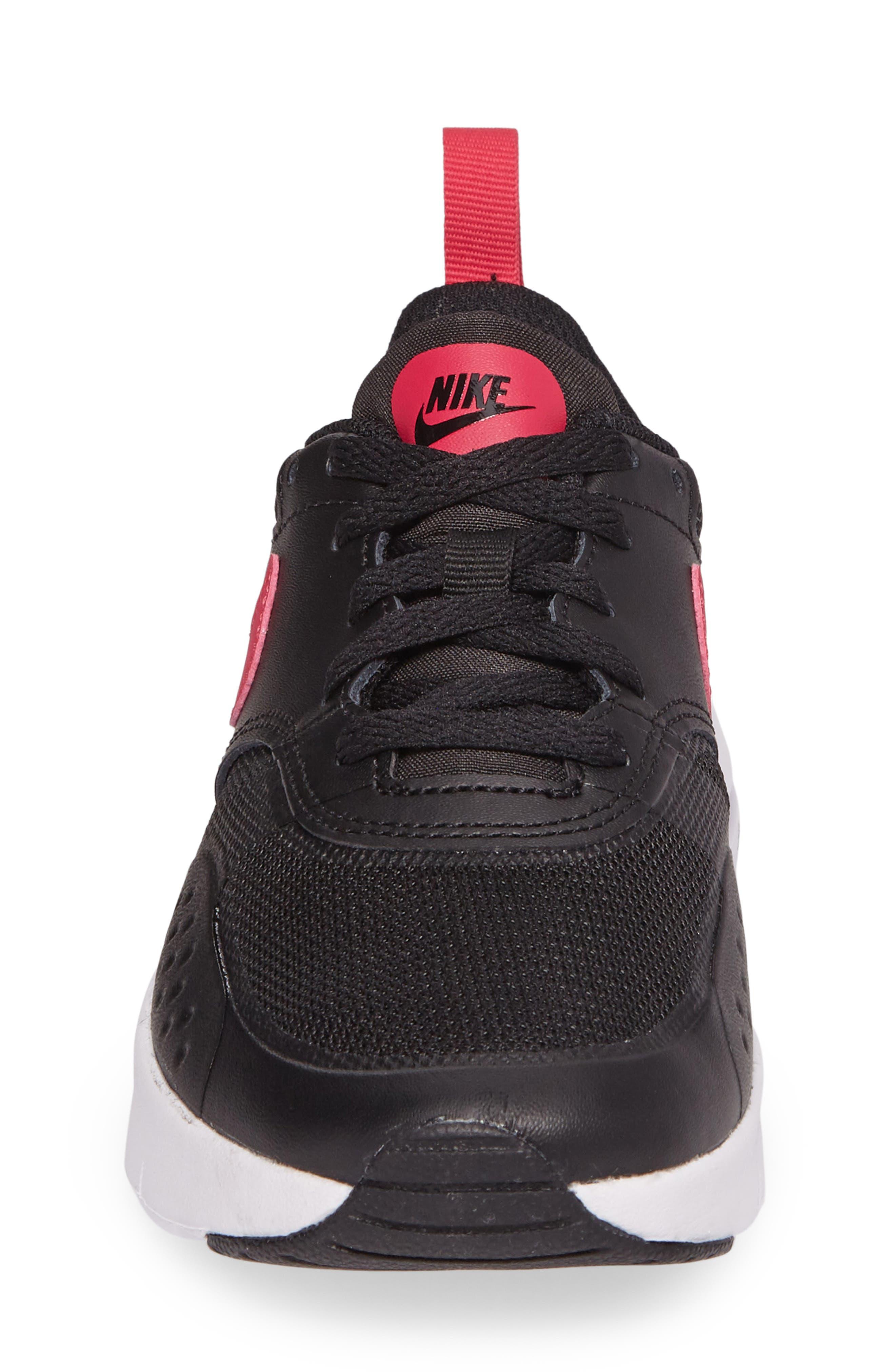 Air Max Vision Sneaker,                             Alternate thumbnail 4, color,                             Black/ Pink