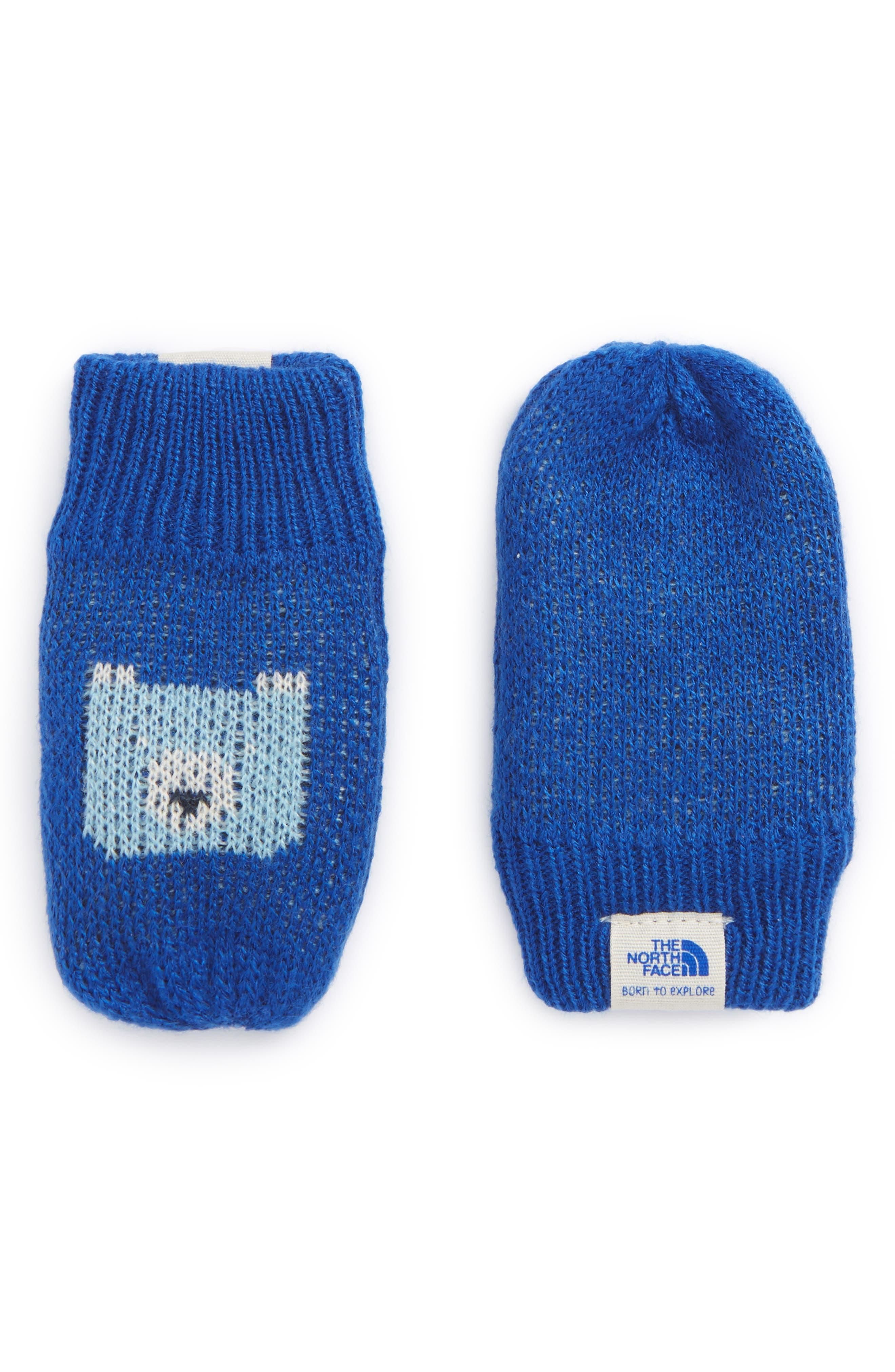 Faroe Knit Mittens,                         Main,                         color, Bright Cobalt