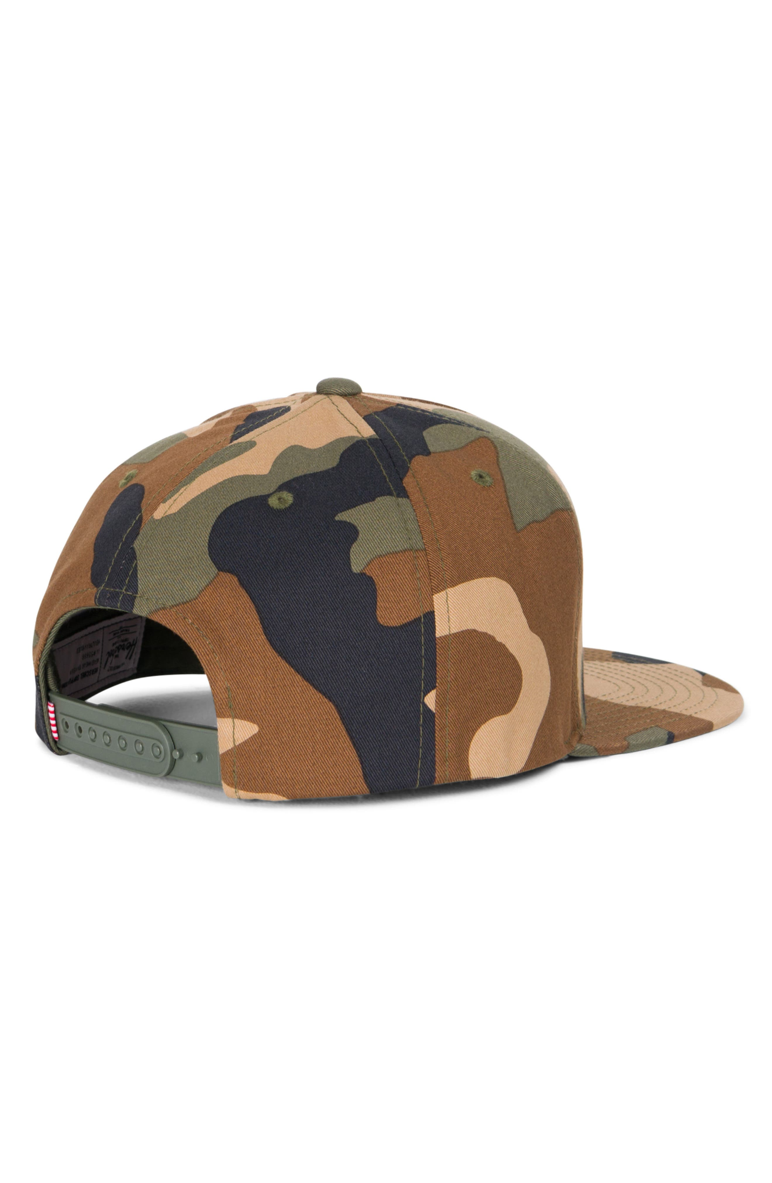 Camo Snapback Baseball Cap,                             Alternate thumbnail 2, color,                             Woodland Camo