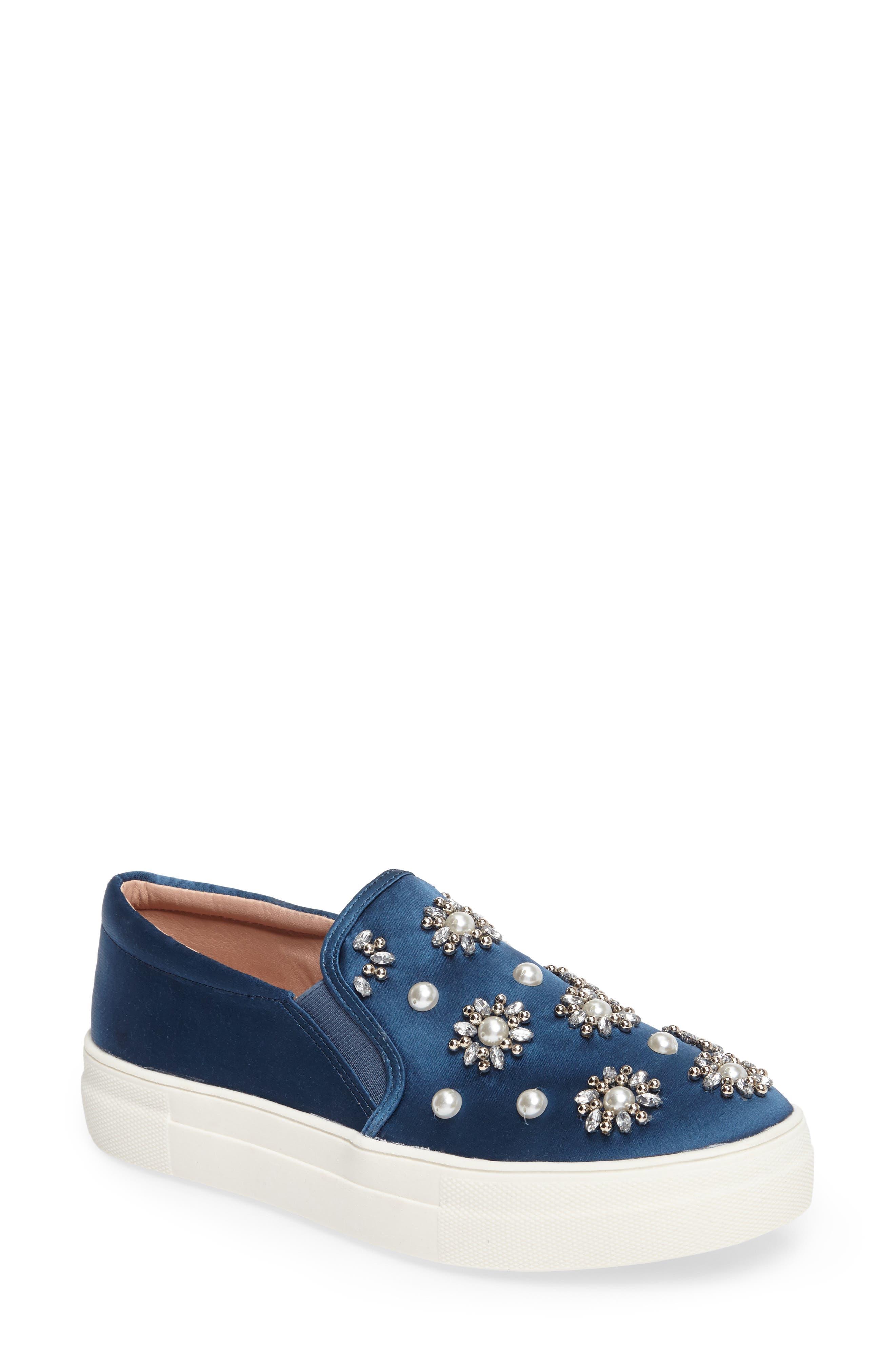 Topshop Tilt Embellished Slip-On Sneaker (Women)