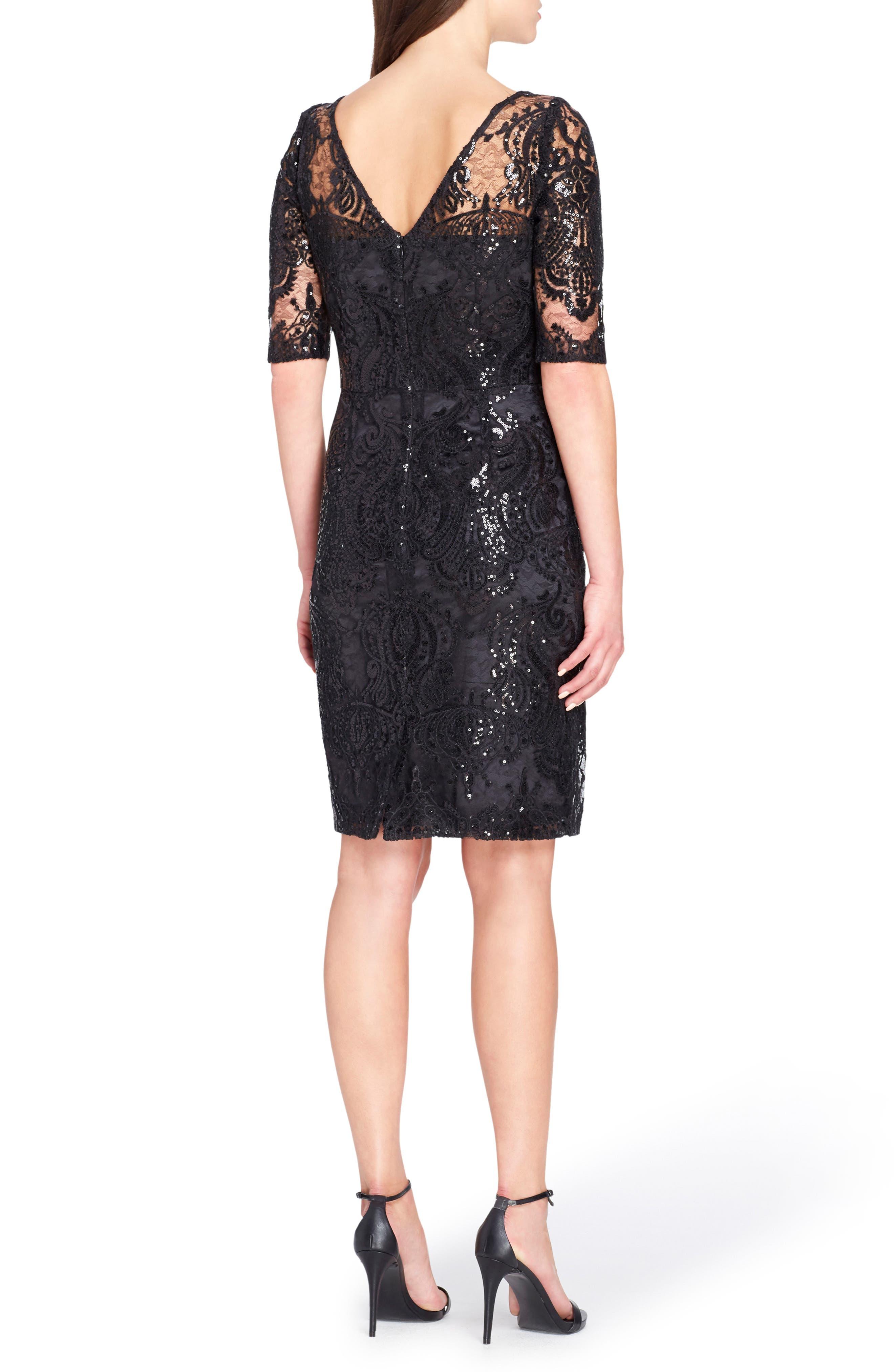 Alternate Image 2  - Tahari Sequin Illusion Sheath Dress