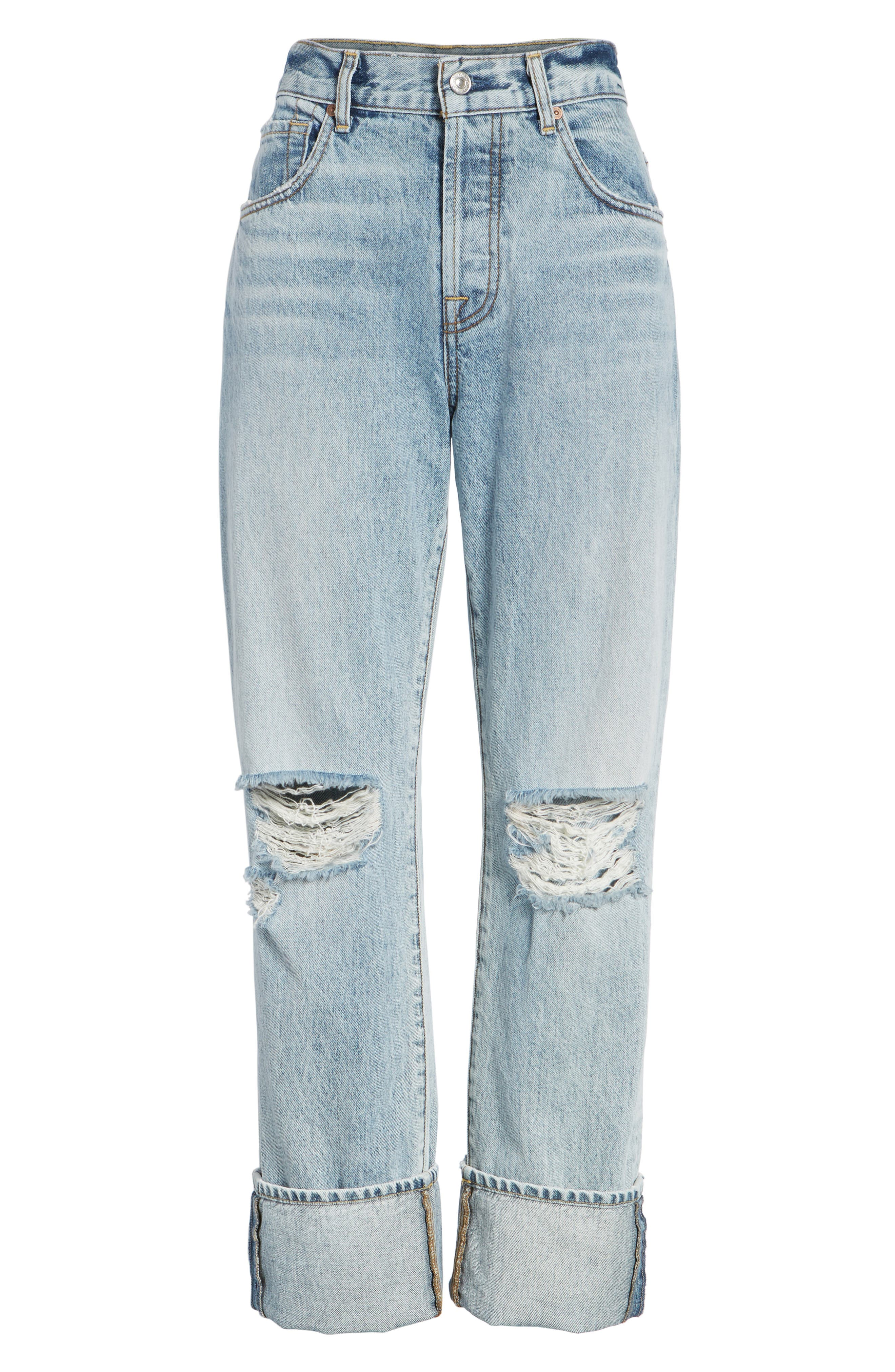 Alternate Image 7  - 7 For All Mankind® Rickie High Waist Boyfriend Jeans (Mineral Desert Springs)