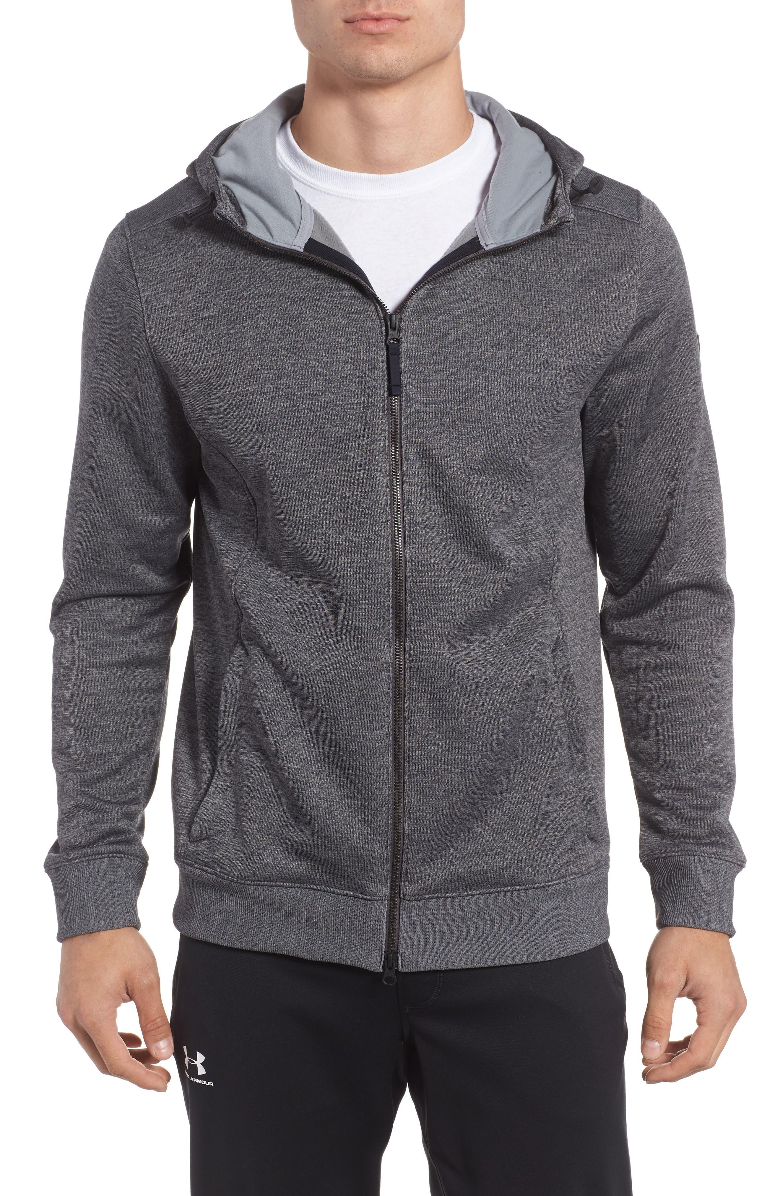 Sportstyle Zip Hoodie,                         Main,                         color, Carbon Heather / Steel