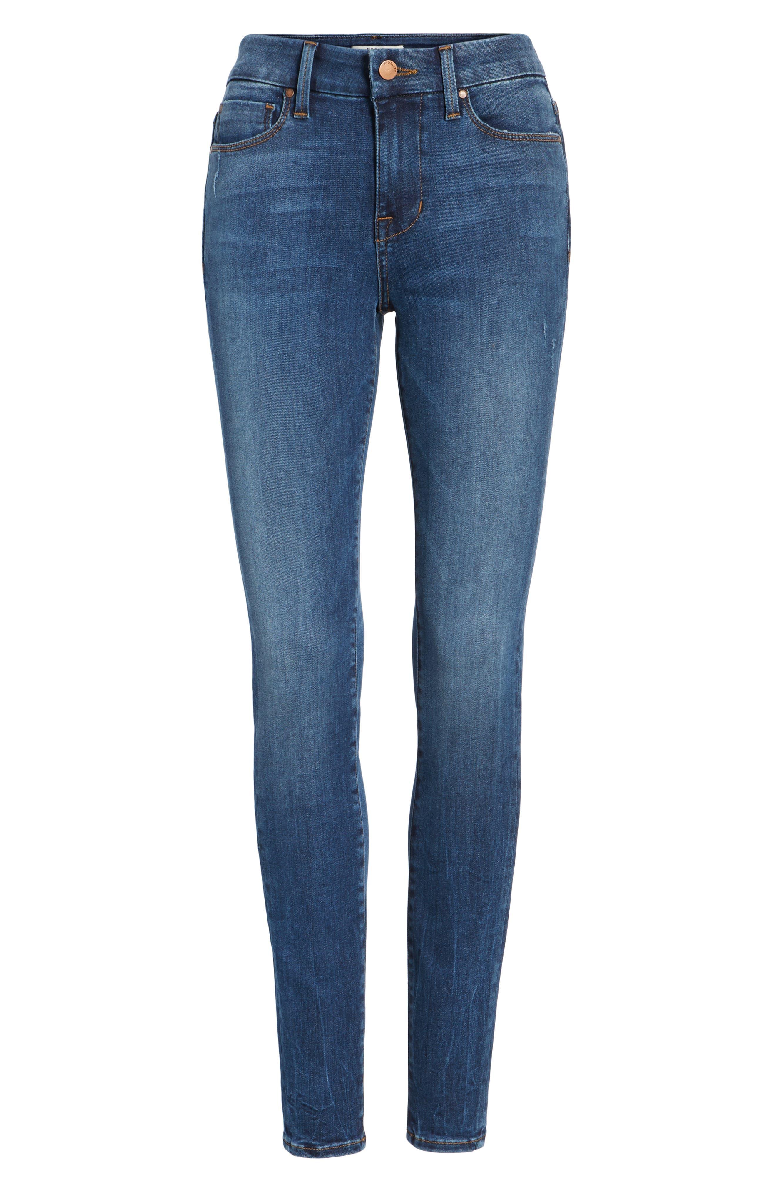 Alternate Image 6  - Fidelity Denim Belvedere Skinny Jeans (Vintage Blue)