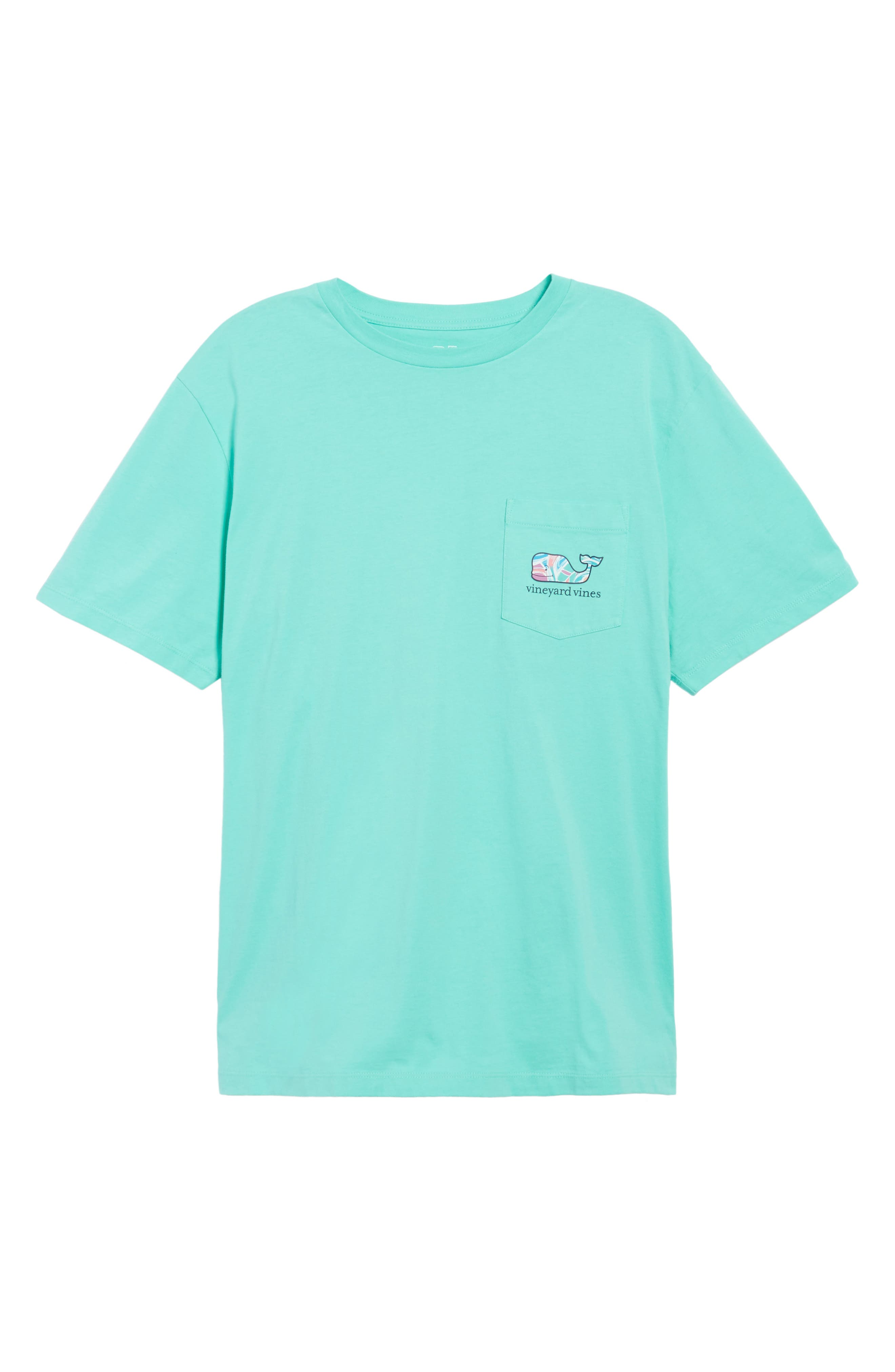Floral Whale Fill Pocket T-Shirt,                             Alternate thumbnail 6, color,                             Antigua Green