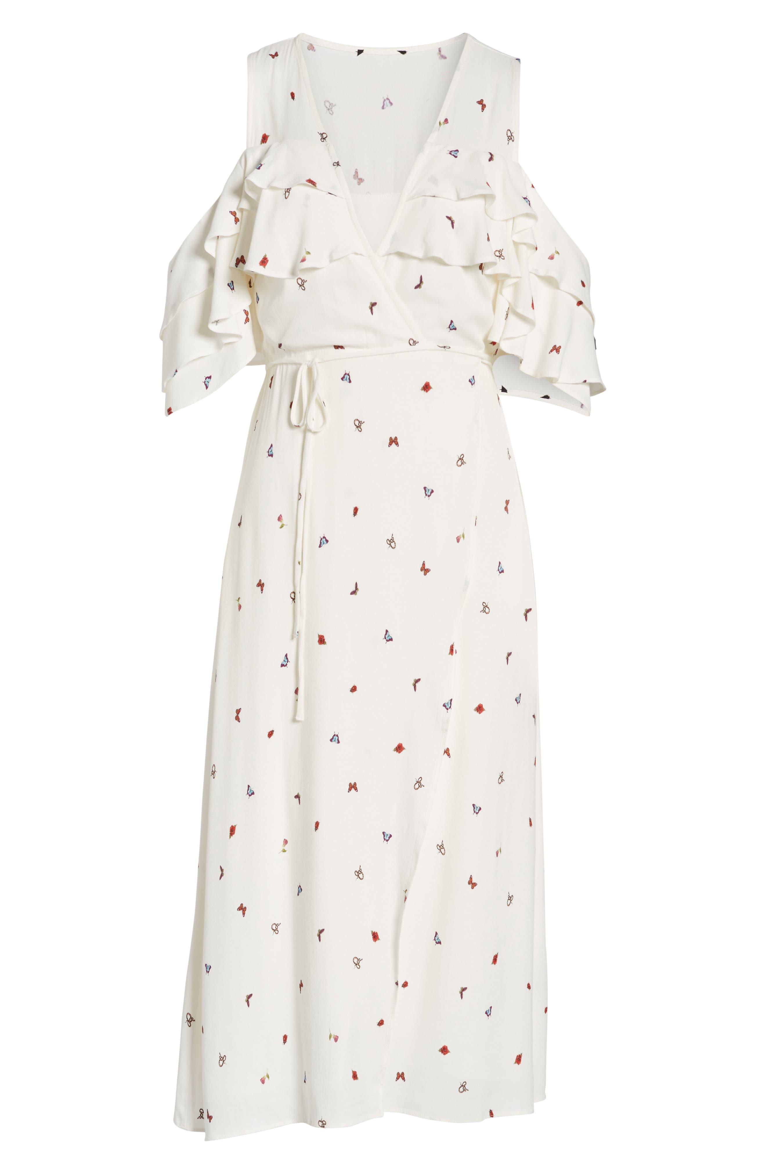 Alternate Image 6  - AFRM Daisy Ruffle Midi Dress