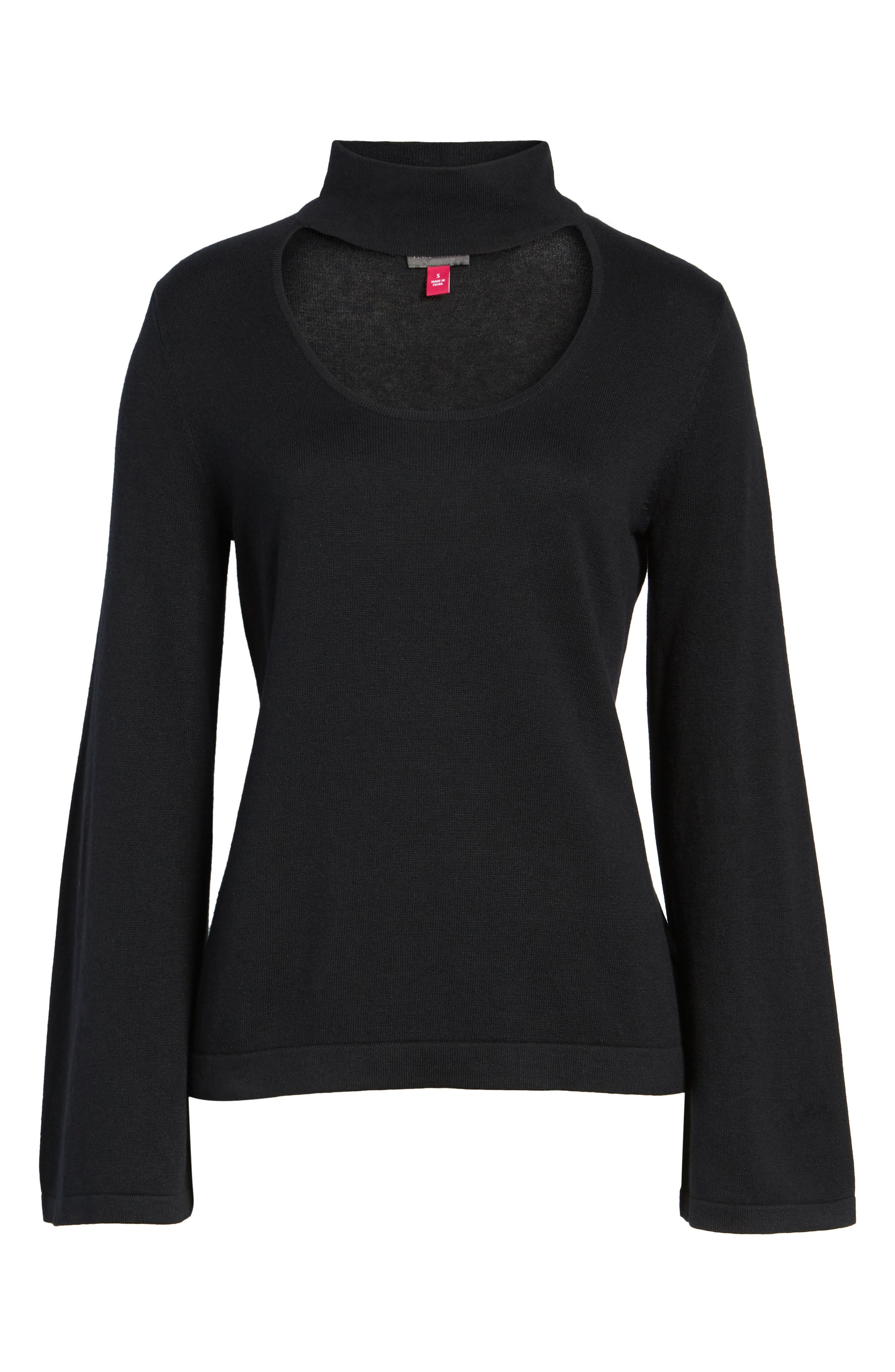 Alternate Image 5  - Vince Camuto Bell Sleeve Choker Neck Sweater (Regular & Petite)
