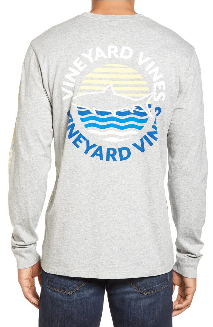 Vineyard vines fish sunset dot pocket t shirt nordstrom for Vineyard vines fishing shirt