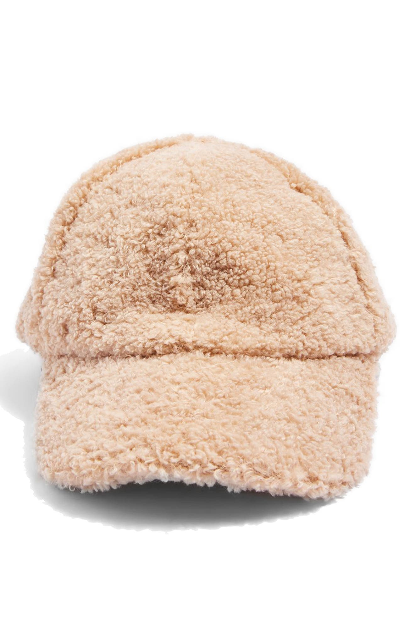 Alternate Image 3  - Topshop Faux Fur Baseball Cap