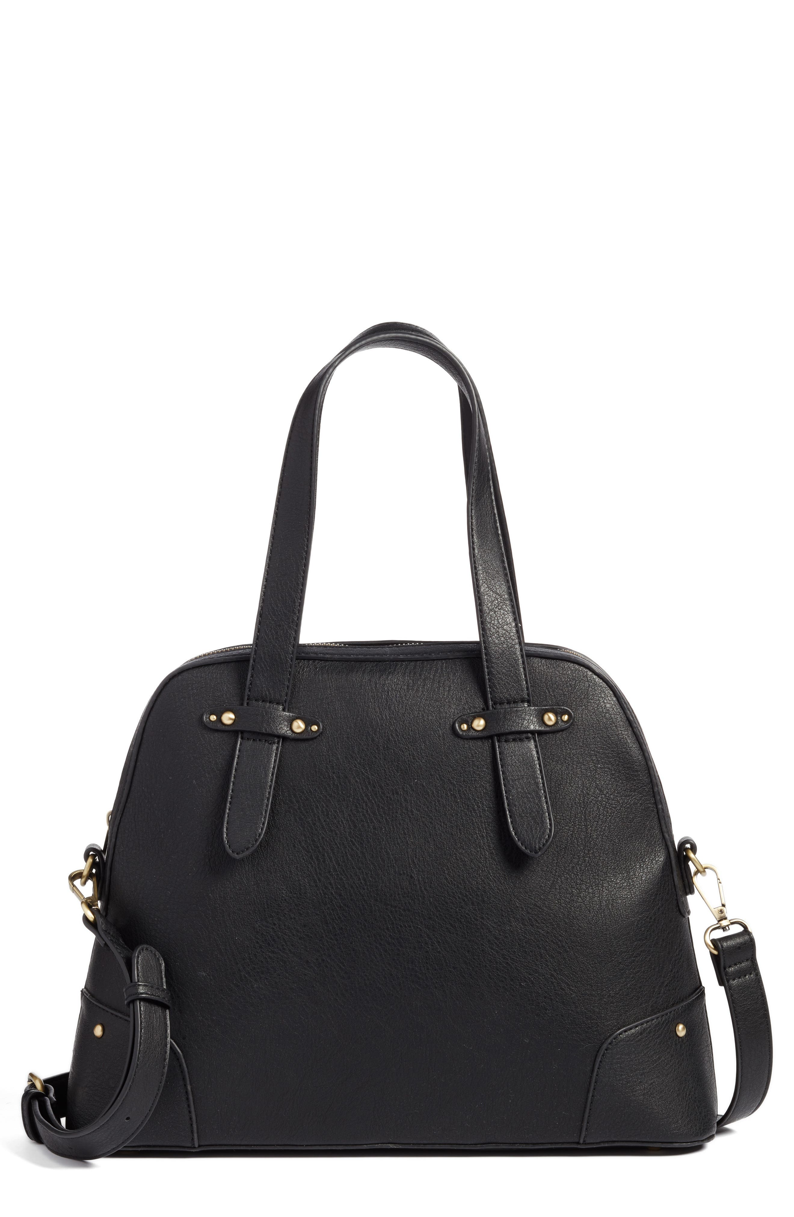 Alternate Image 1 Selected - Sole Society Christie Faux Leather Satchel