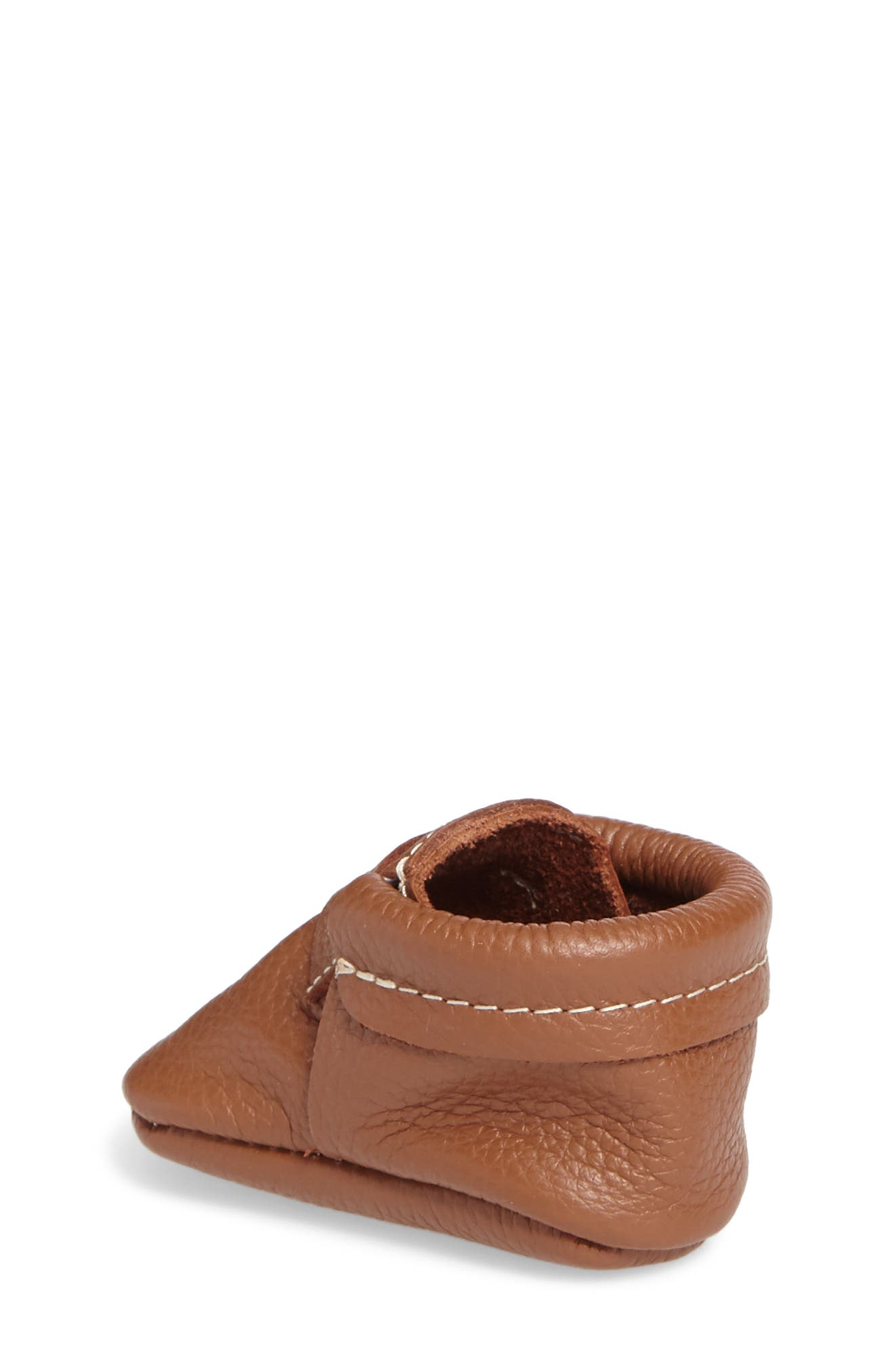 Penny Loafer Crib Shoe,                             Alternate thumbnail 2, color,                             Cognac
