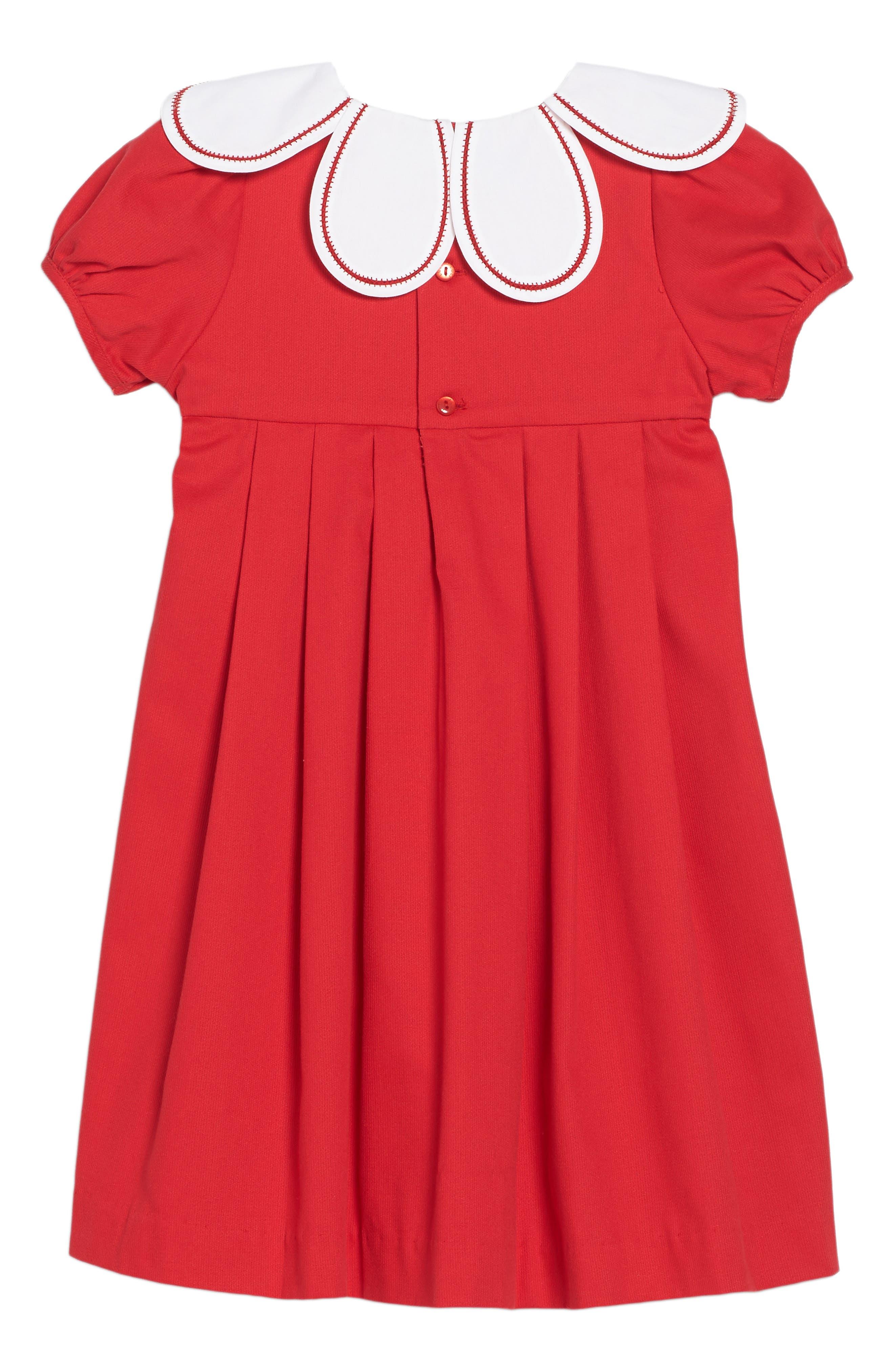 Alternate Image 2  - Luli & Me Daisy Collar Corduroy Dress (Toddler Girls)