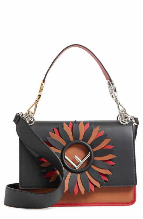 9574c928a4a9 Fendi Kan I Century Mix Calfskin Leather Shoulder Bag