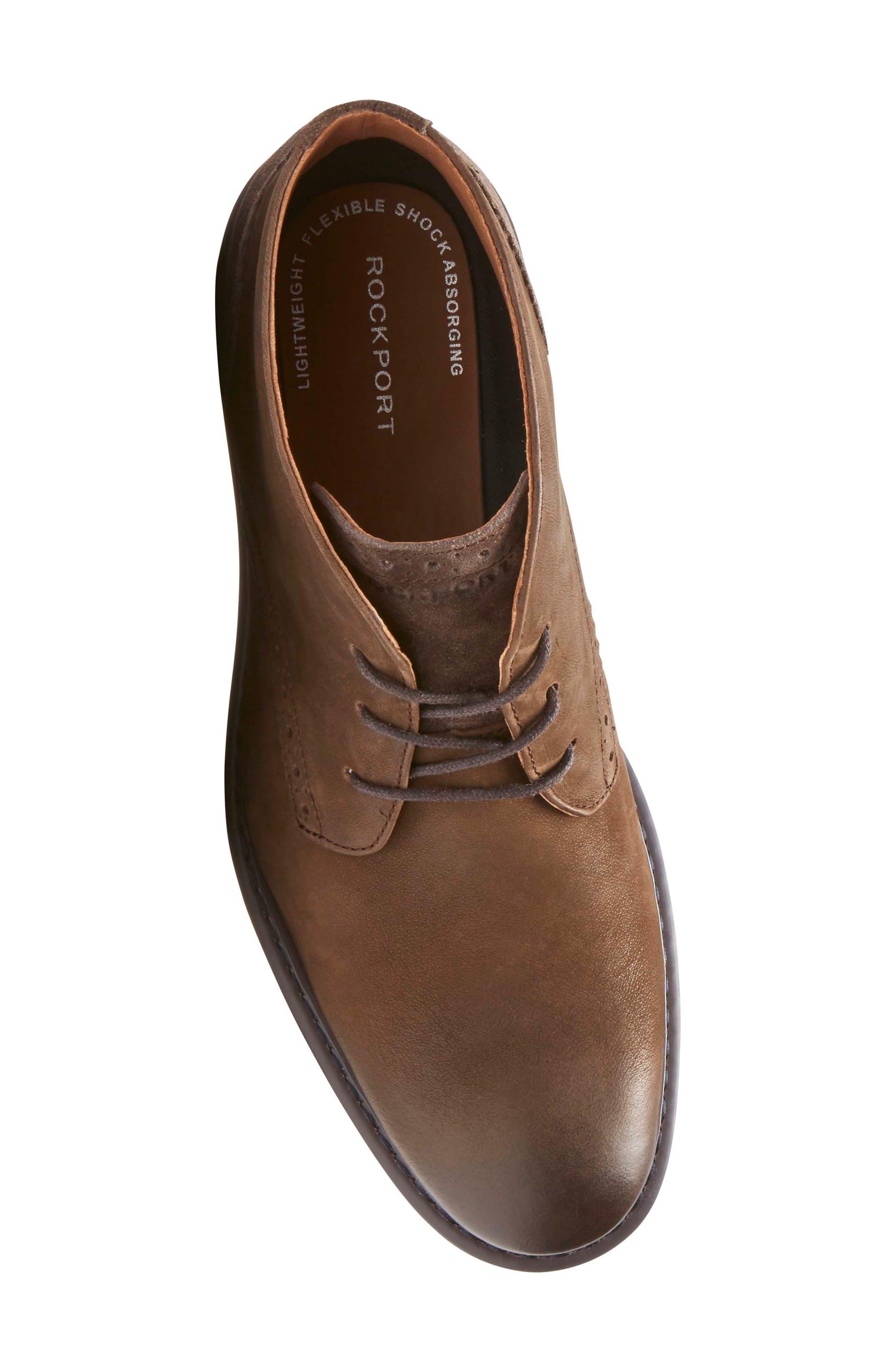 Jaxson Chukka Boot,                             Alternate thumbnail 5, color,                             Brown/ Brown Leather
