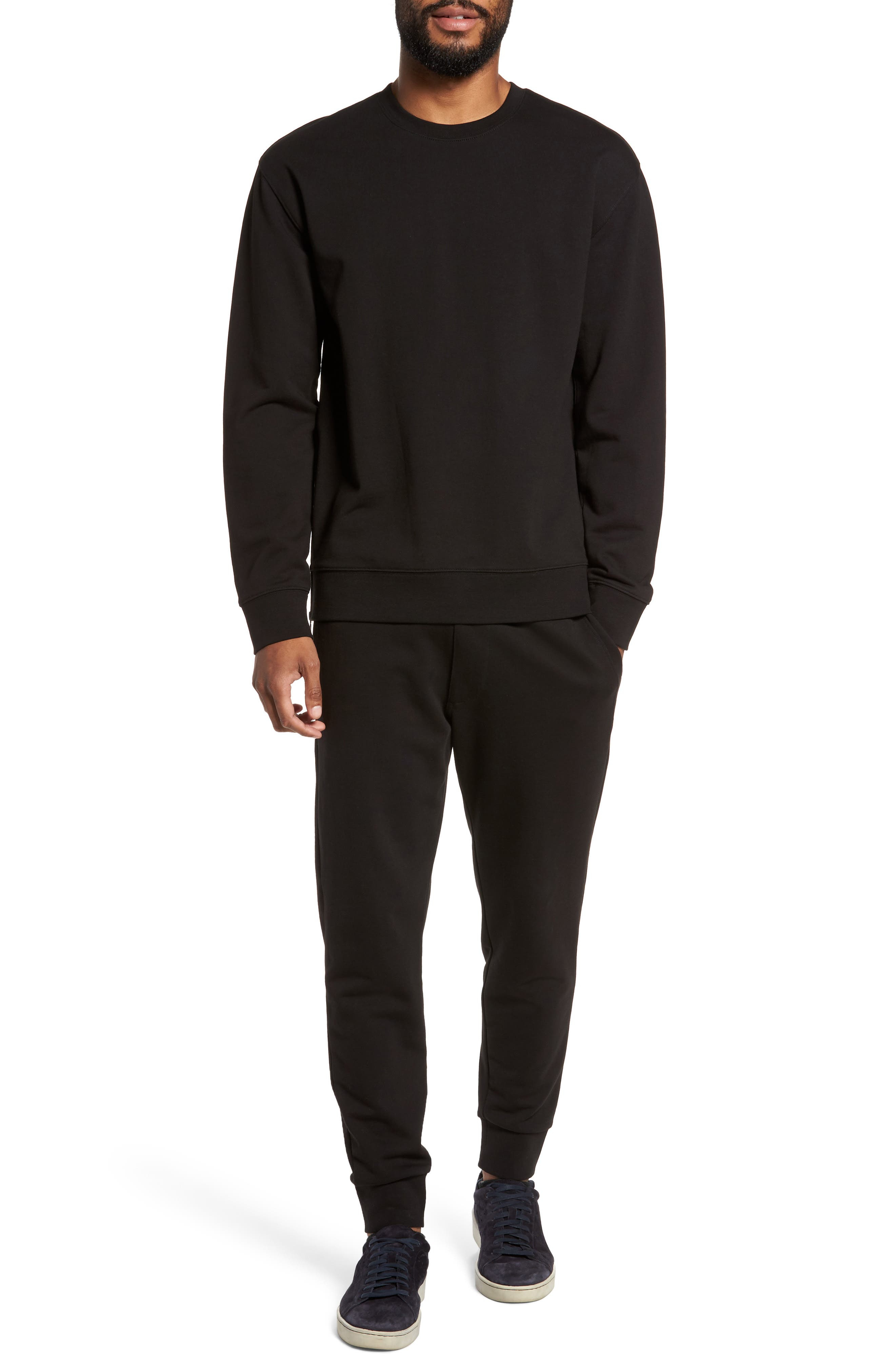 Cotton Sweatpants,                             Alternate thumbnail 7, color,                             Black