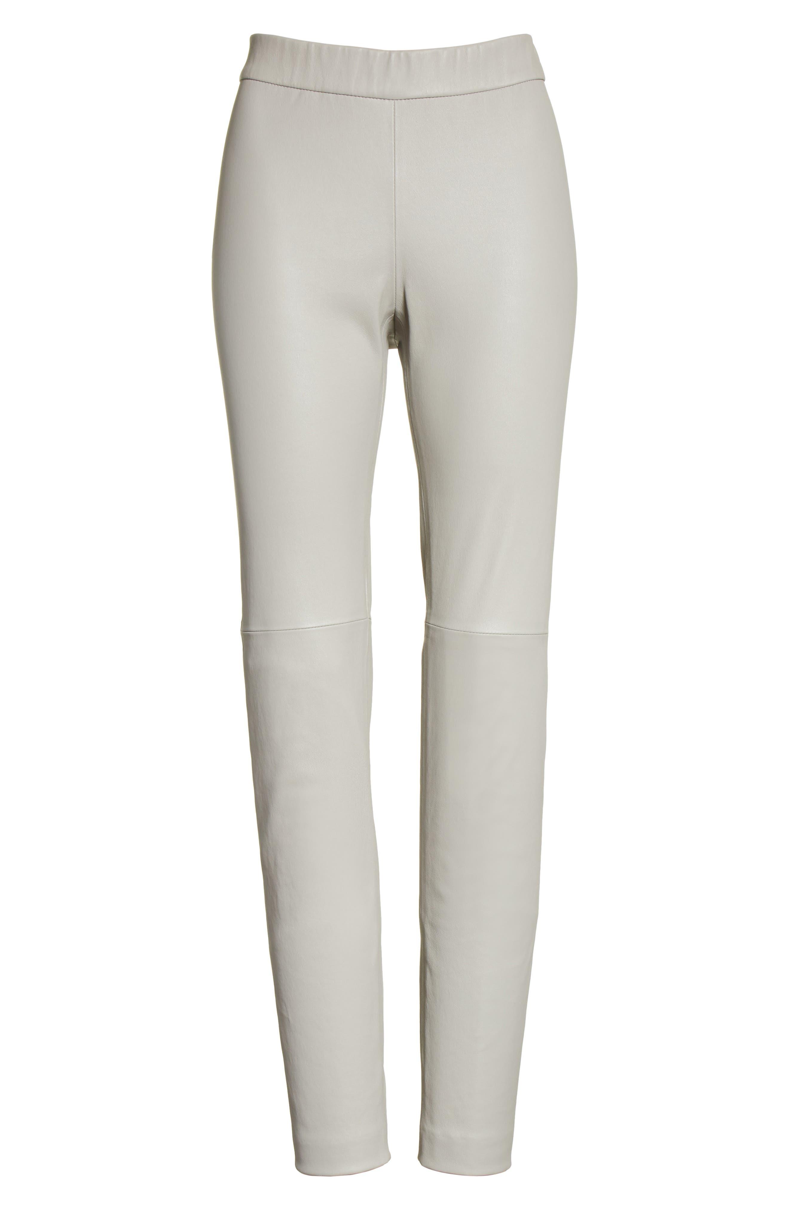 Alternate Image 6  - Fabiana Filippi Stretch Leather Leggings