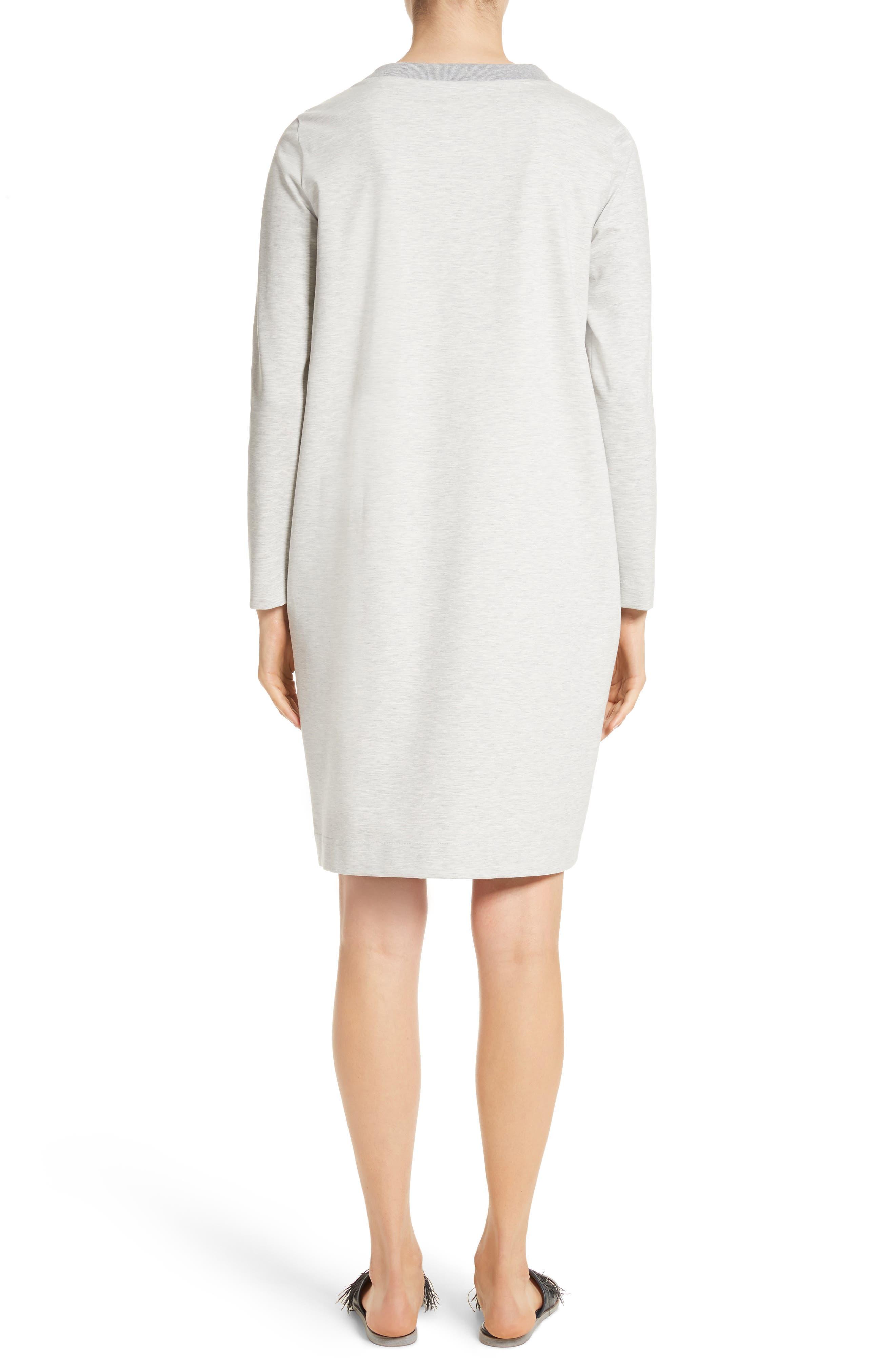 Alternate Image 2  - Fabiana Filippi Rodier Jersey Sweatshirt Dress