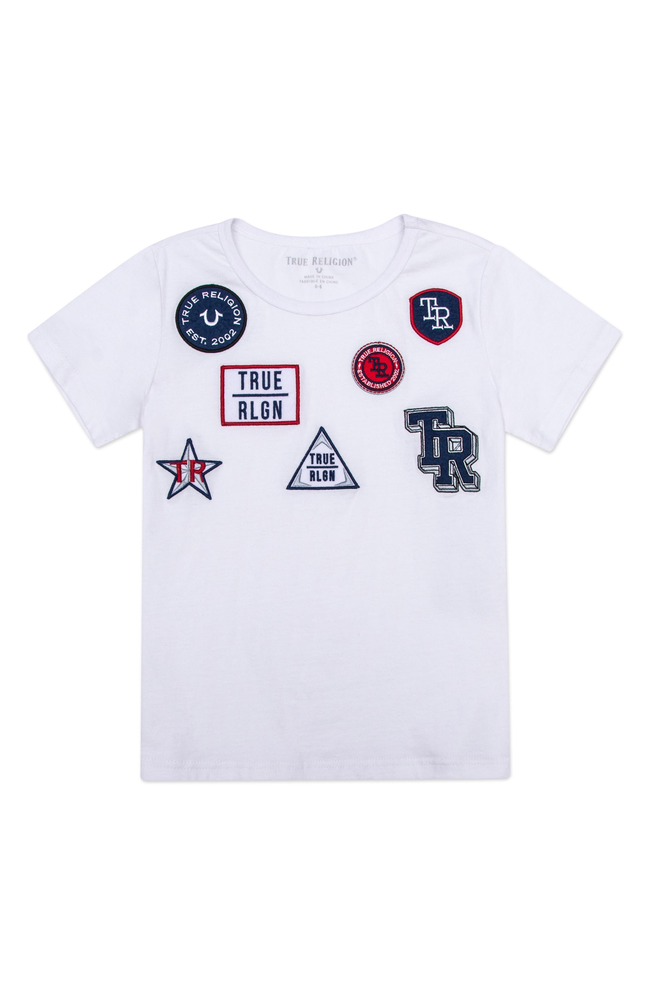 True Religion Brand Jeans Patch Rebel Appliqué T-Shirt (Toddler Boys & Little Boys)