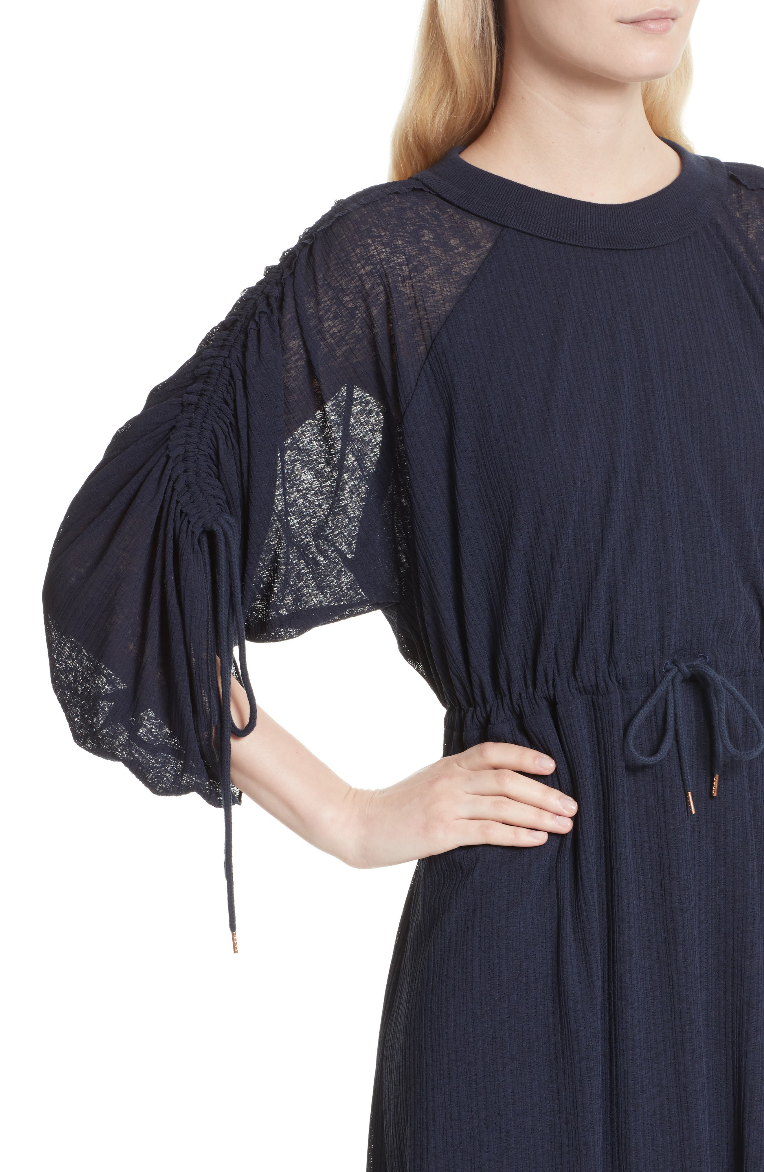 Knit Raglan Dress,                             Alternate thumbnail 4, color,                             Ultramarine