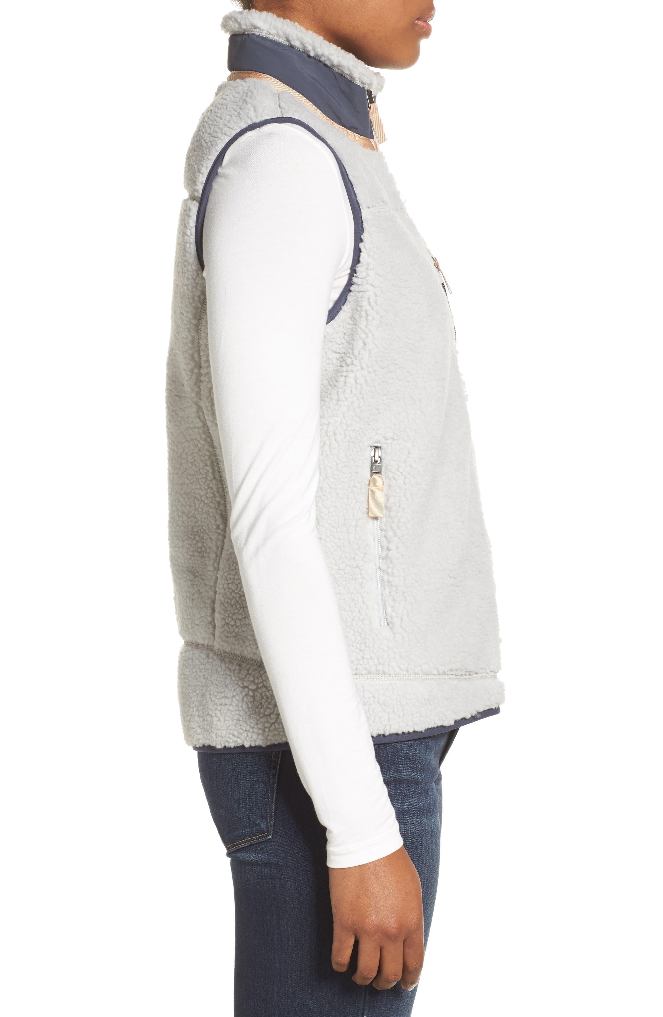 Classic Retro-X<sup>®</sup> Fleece Vest,                             Alternate thumbnail 3, color,                             Tailored Grey W/ Smolder Blue